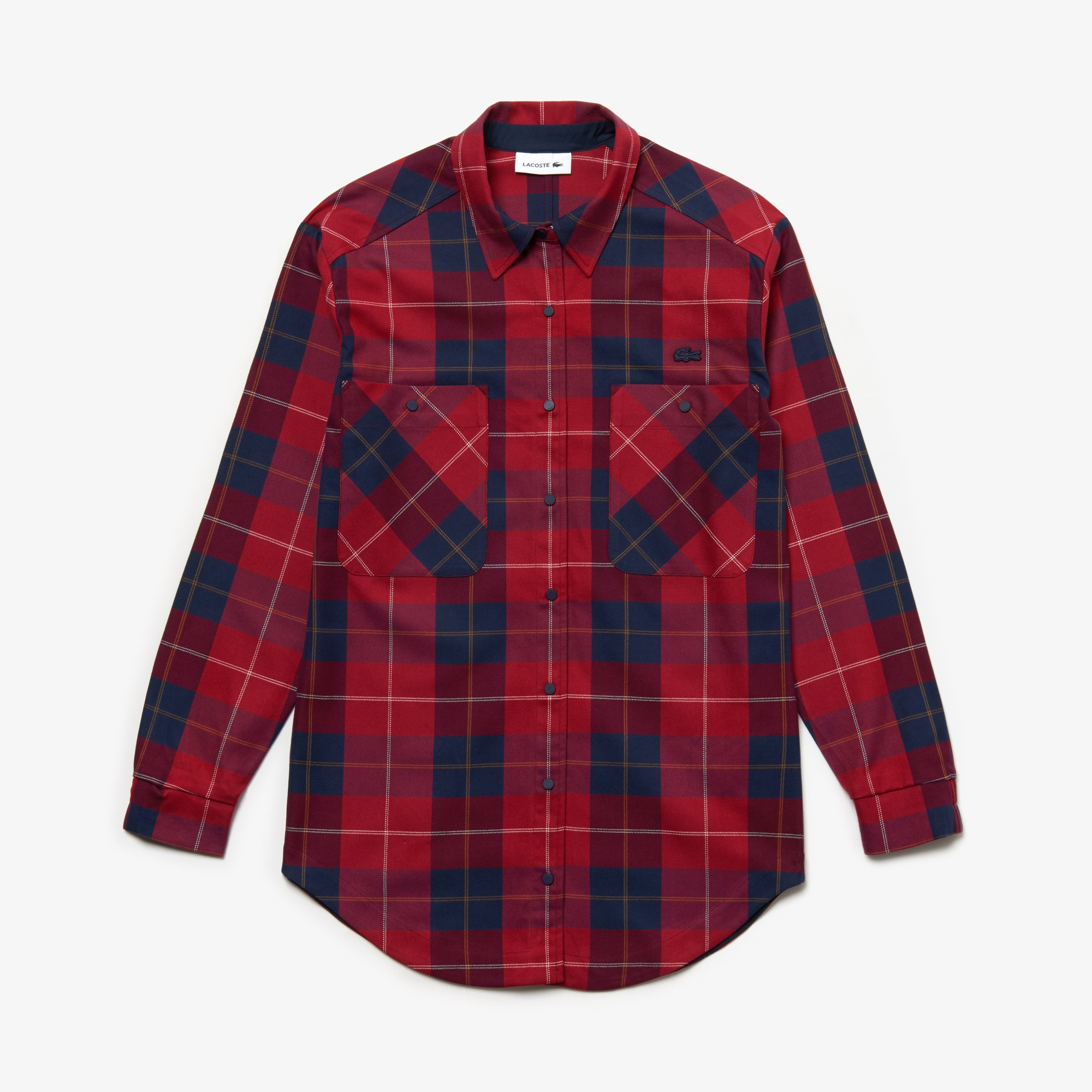 Women's Slim Fit Stretch Check Cotton Canvas Shirt