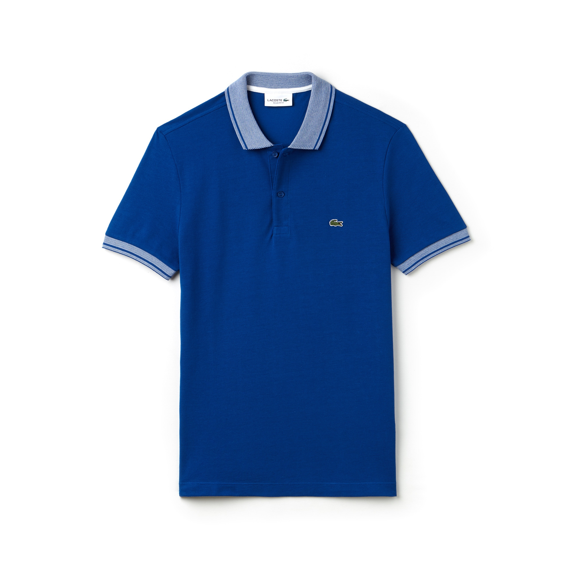 Men's Regular Fit Piped Cotton Petit Piqué Polo