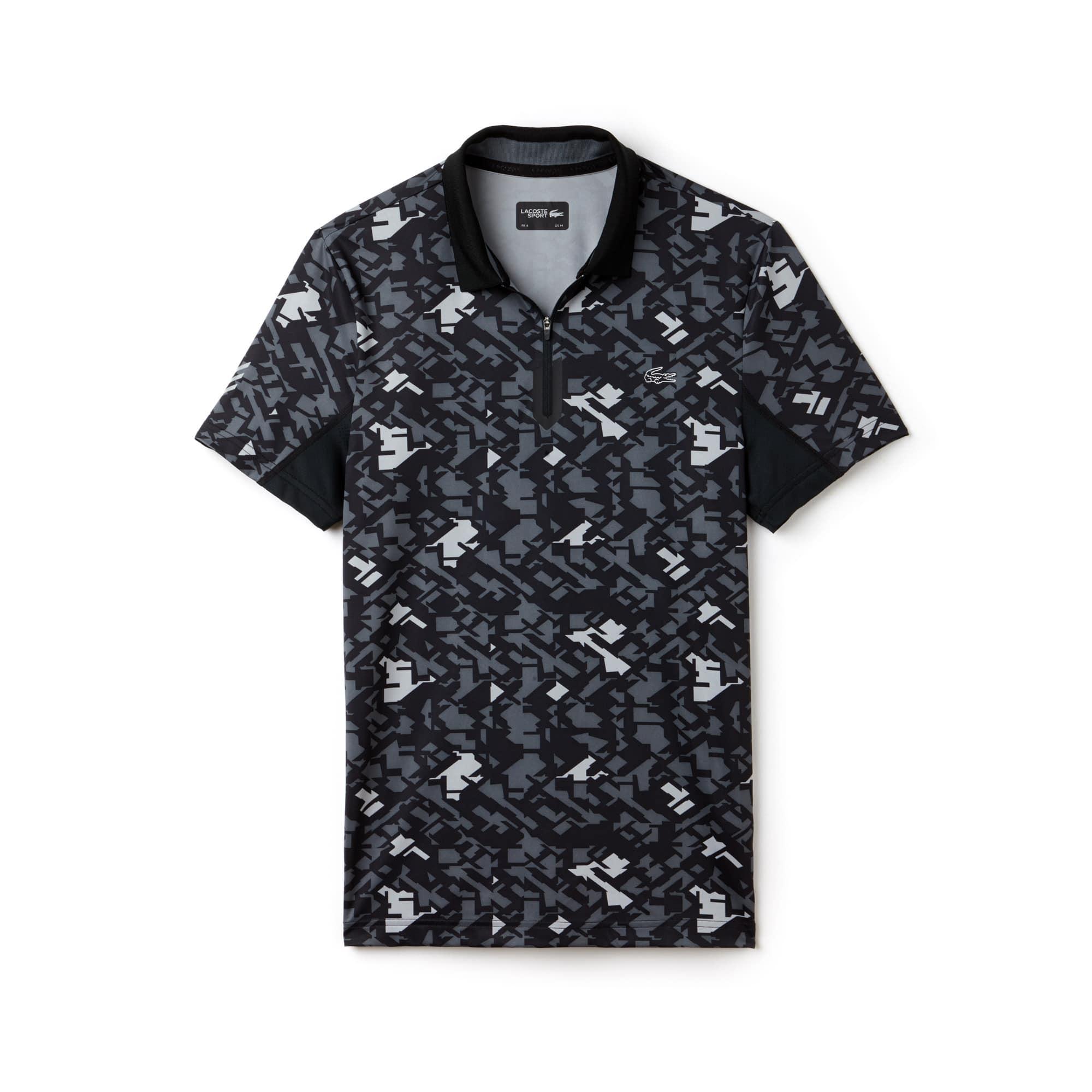 Men's SPORT Print Technical Jersey Tennis Polo Shirt