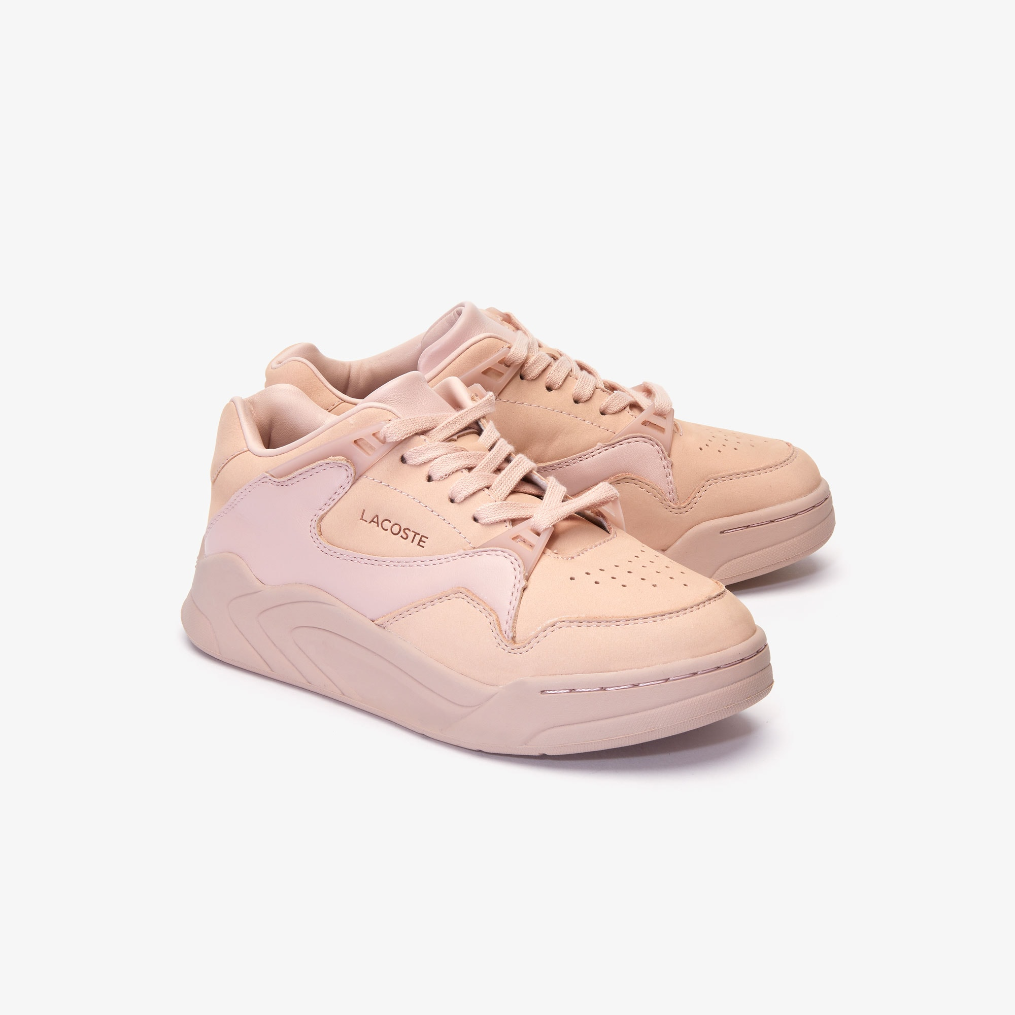 Women's Court Slam Nubuck Leather Trainers