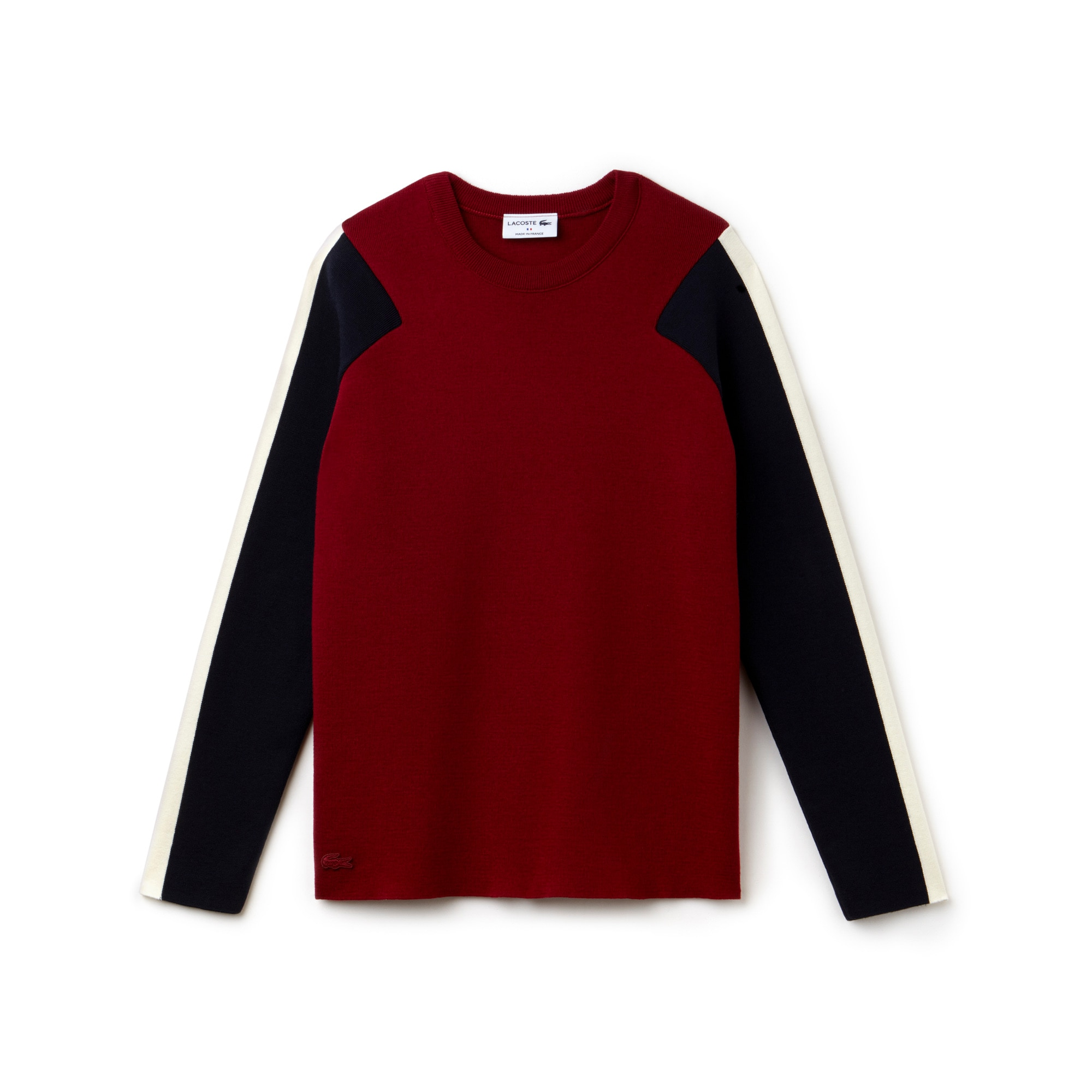 Women's Made in France Crew Neck Colorblock Knit Sweater