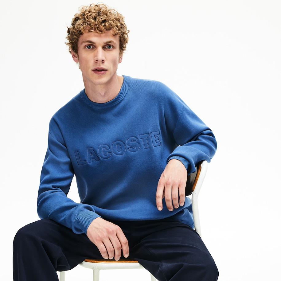 Men's Crewneck Signature-Logo Knit Sweater