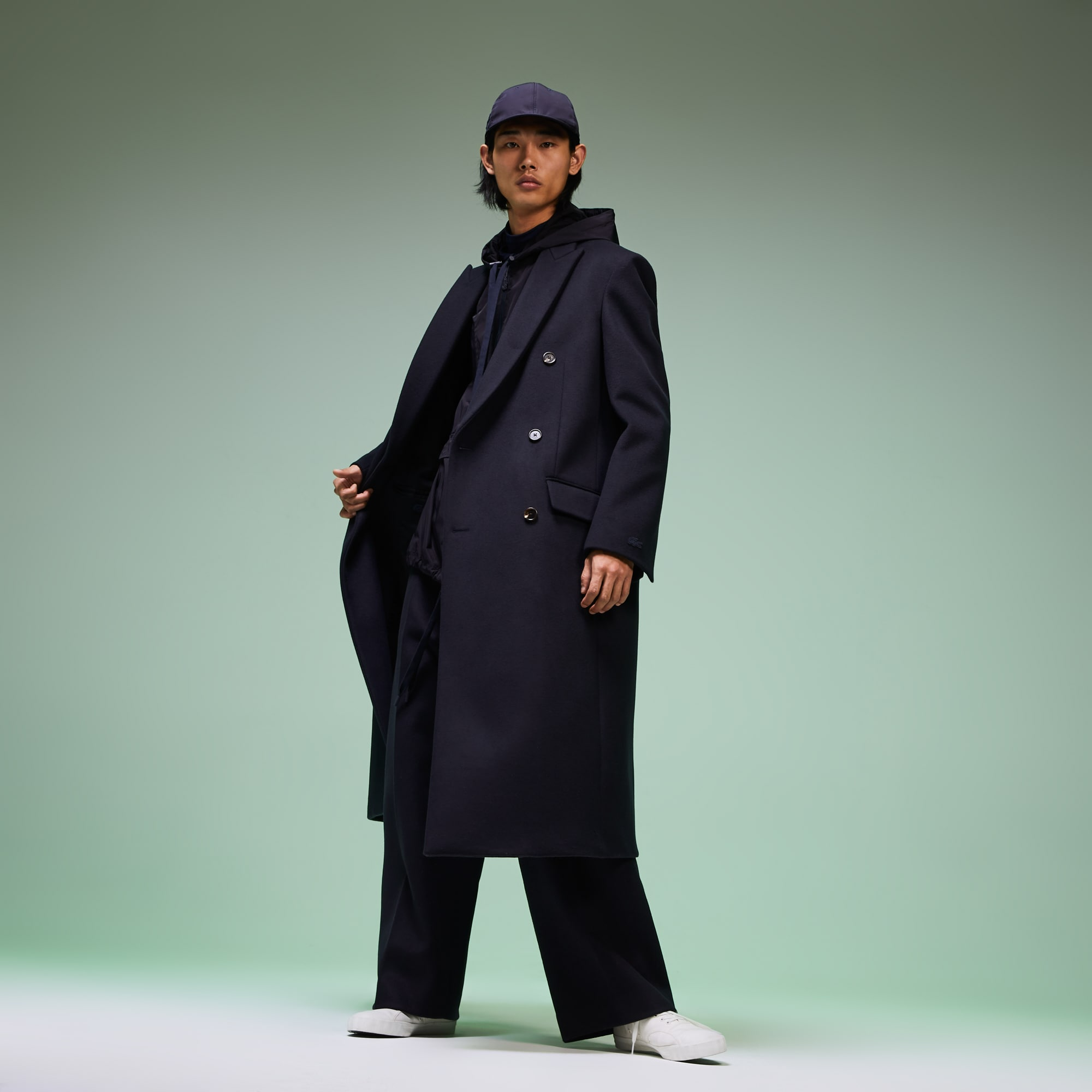 Lacoste Coats Men's Fashion Show Double-Breasted Coat