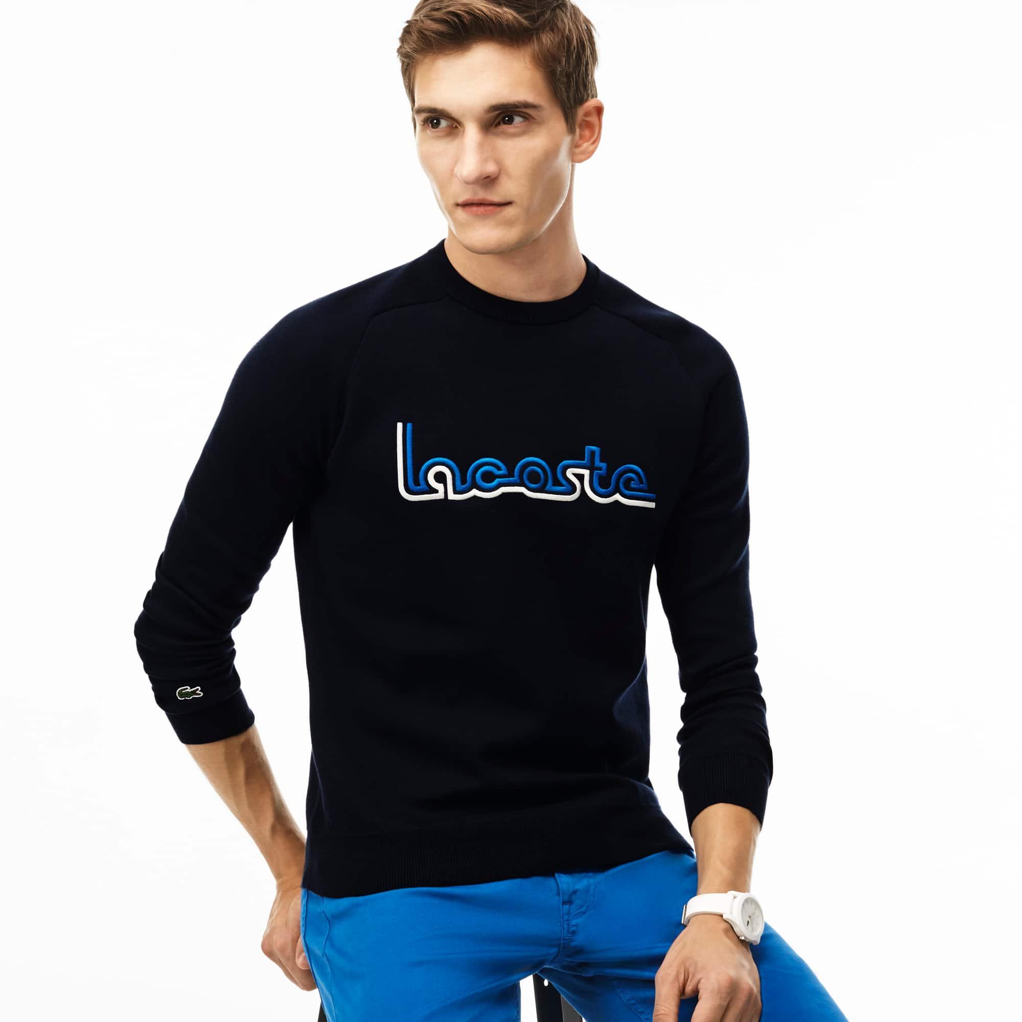 Men's Embroidery Interlock Knit Sweatshirt