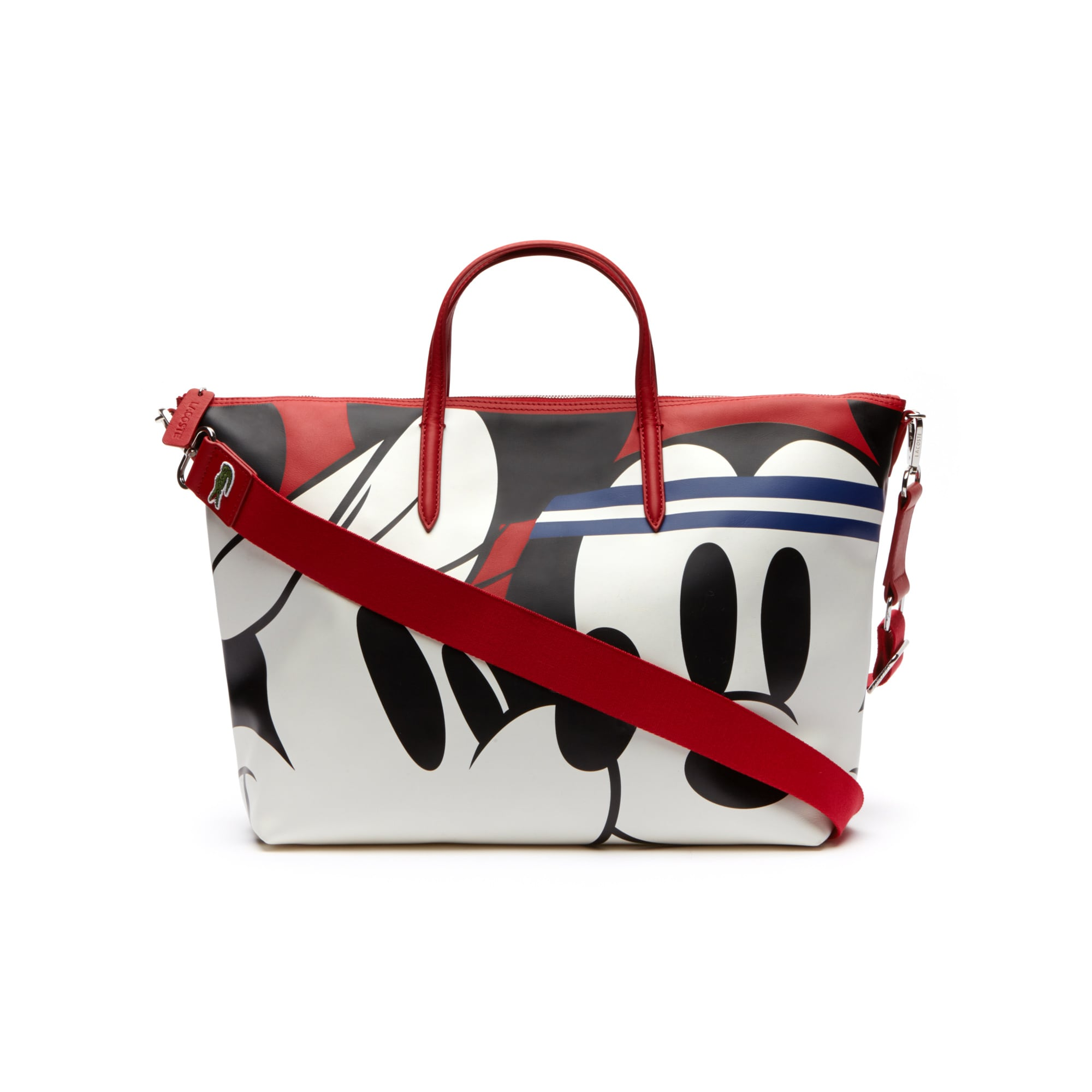 Women's Disney Holiday Collector Print Leather Zip Tote