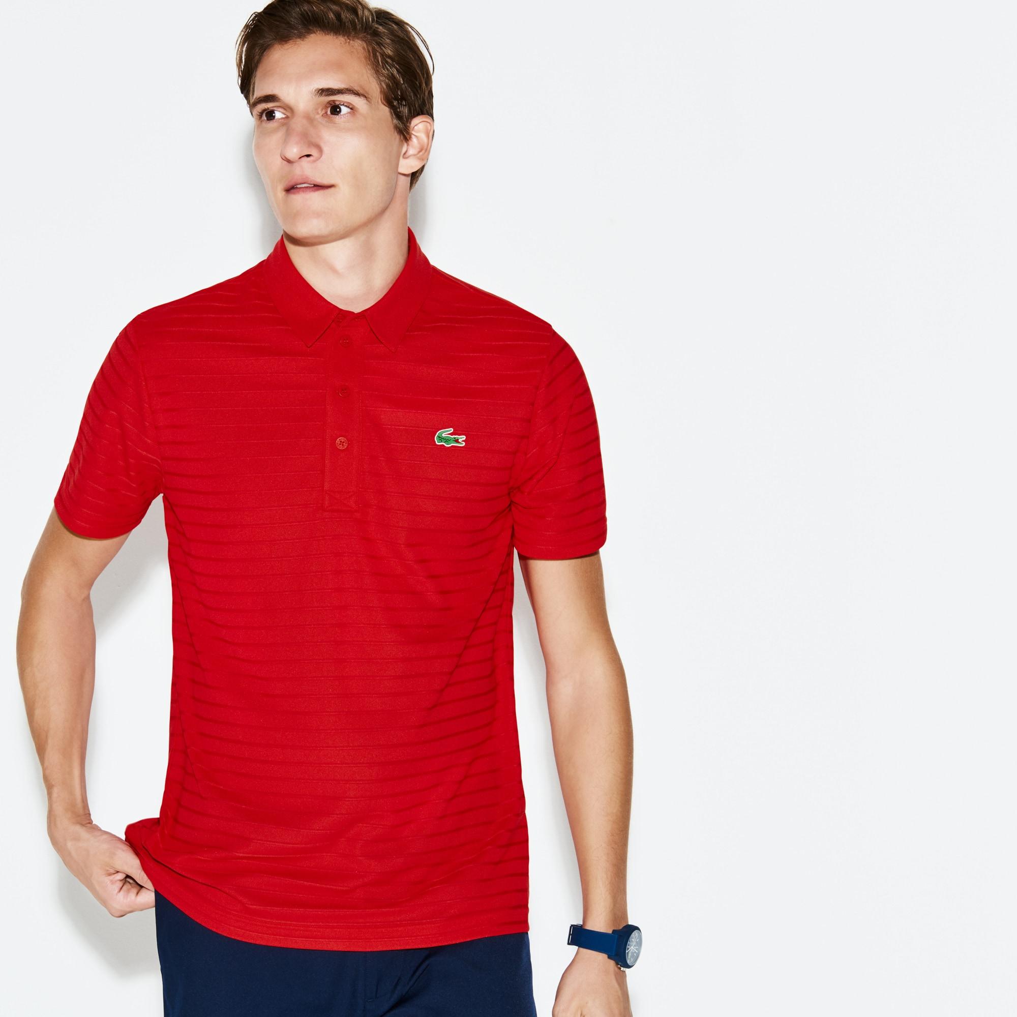 Men's  SPORT Golf Striped Tech Jacquard Jersey Polo Shirt