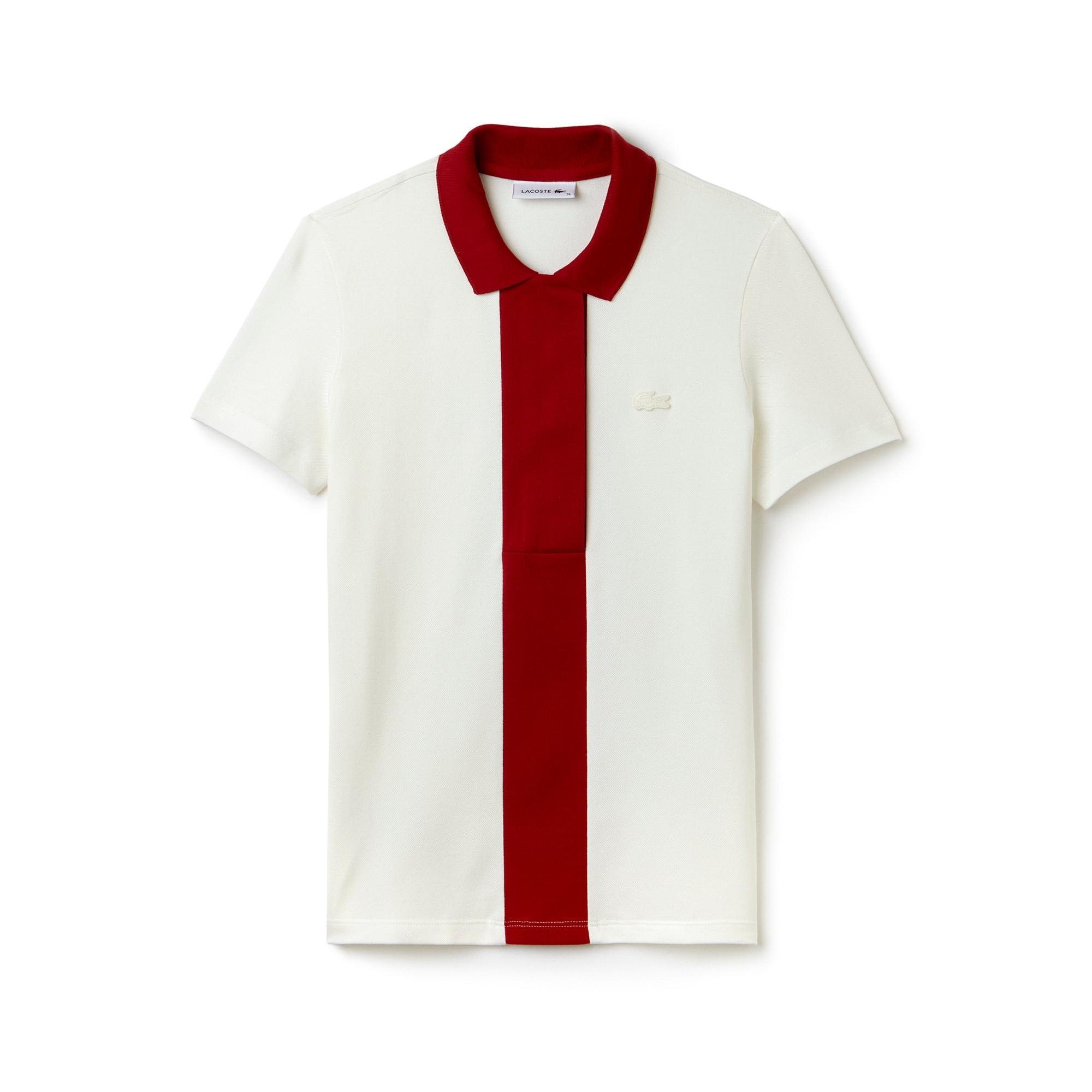 Women's Lacoste Slim Fit Colorblock Stretch Mini Cotton Piqué Polo