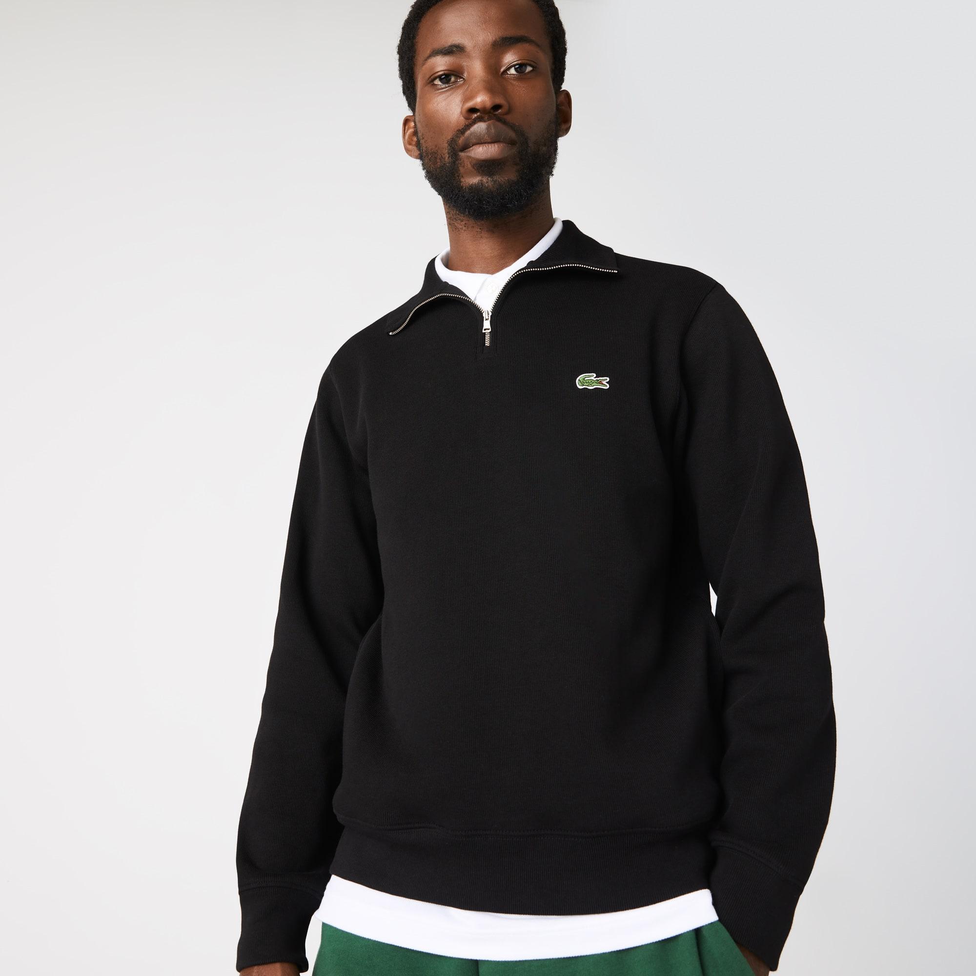 라코스테 맨 집업 맨투맨 Lacoste Mens Zippered Stand-Up Collar Cotton Sweatshirt