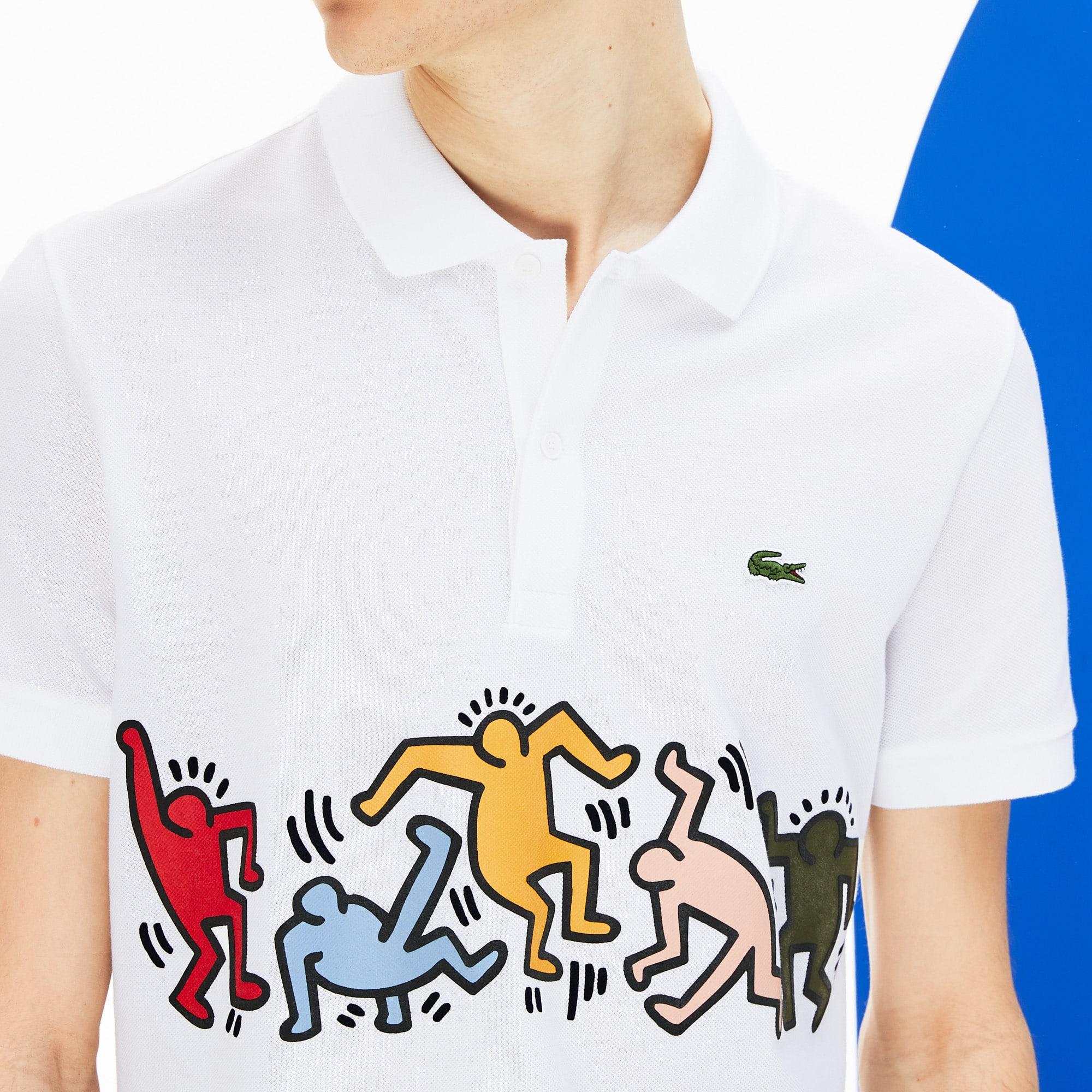 Men's Keith Haring Print Piqué Polo