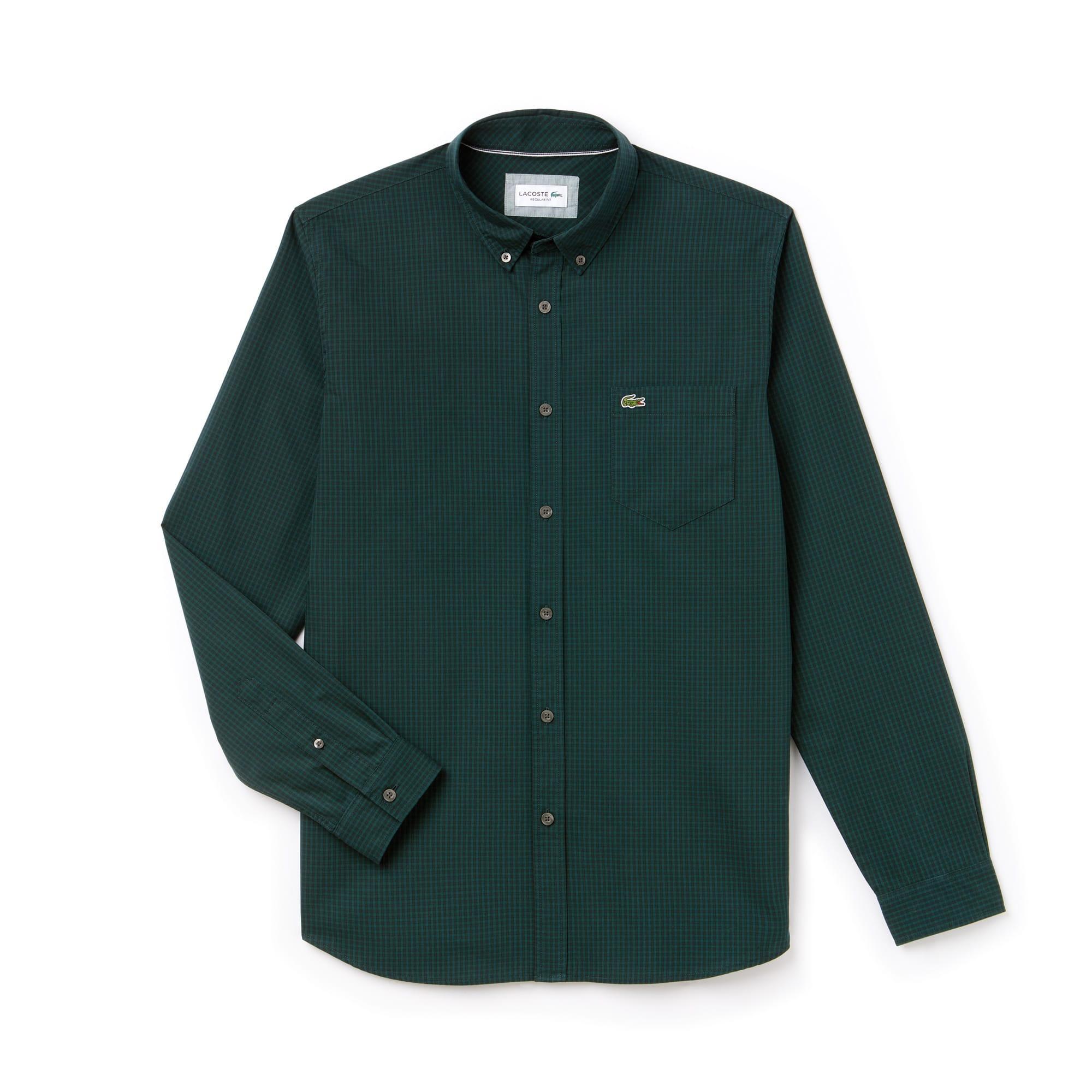 Men's Motion Regular Fit Check Poplin Shirt