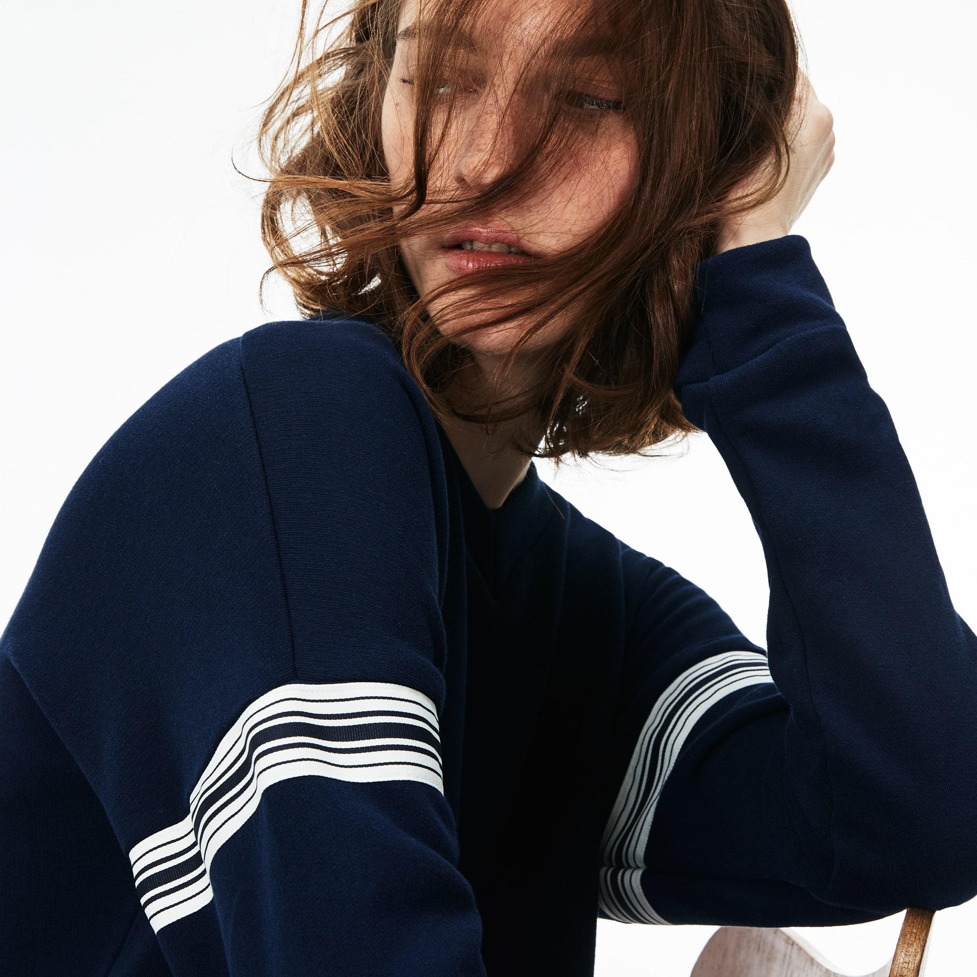 Women's Contrast Bands Sweatshirt Dress