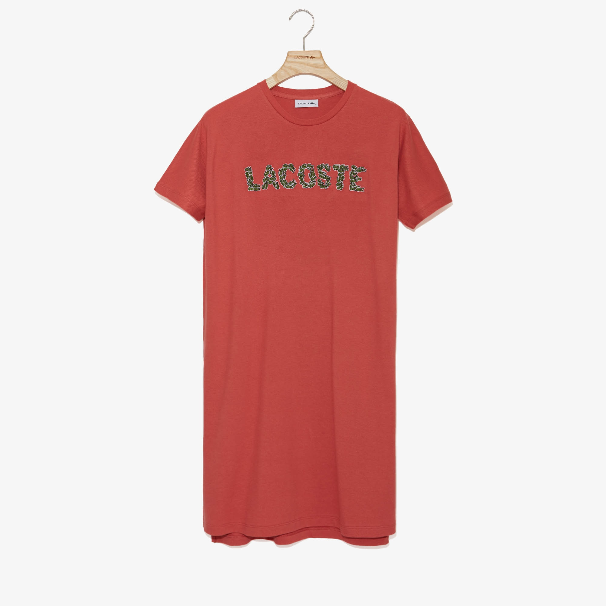 Lacoste Dresses Women's Croco Magic Cotton T-Shirt Dress
