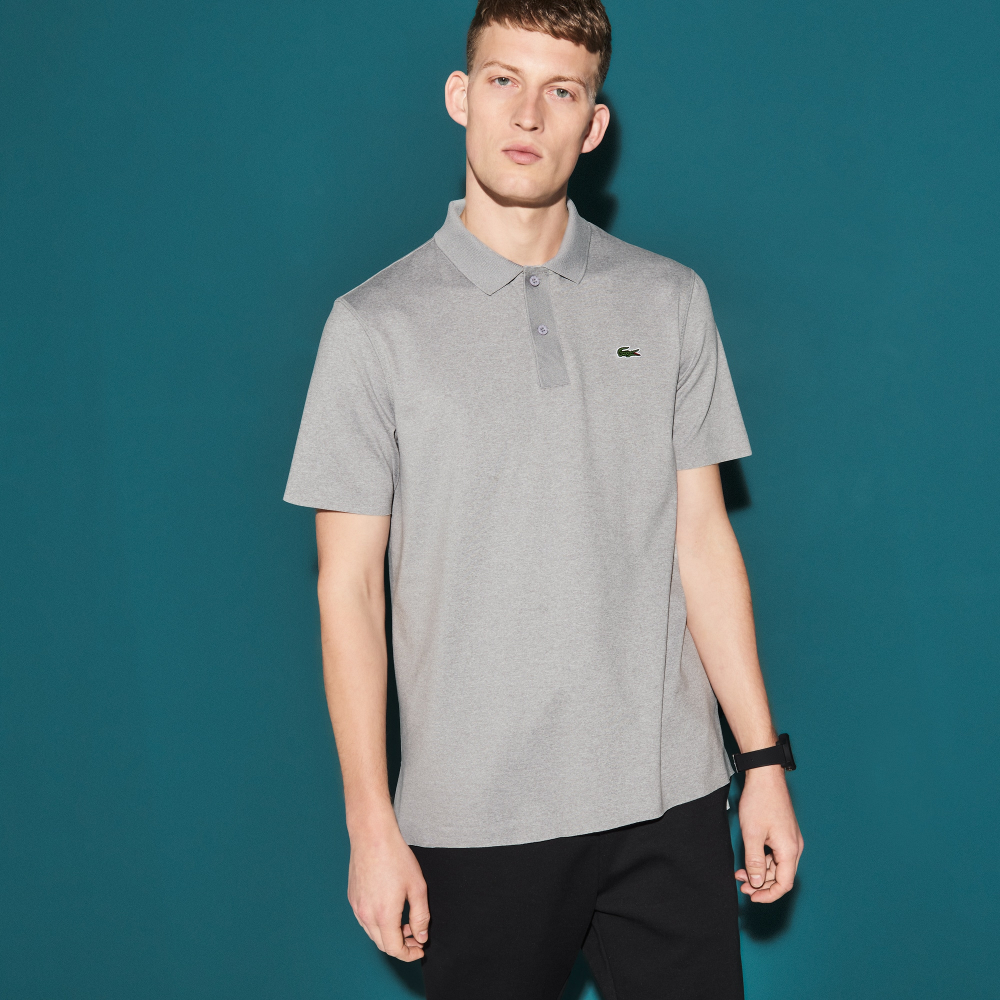 Men's SPORT Flecked Stretch Tennis Polo