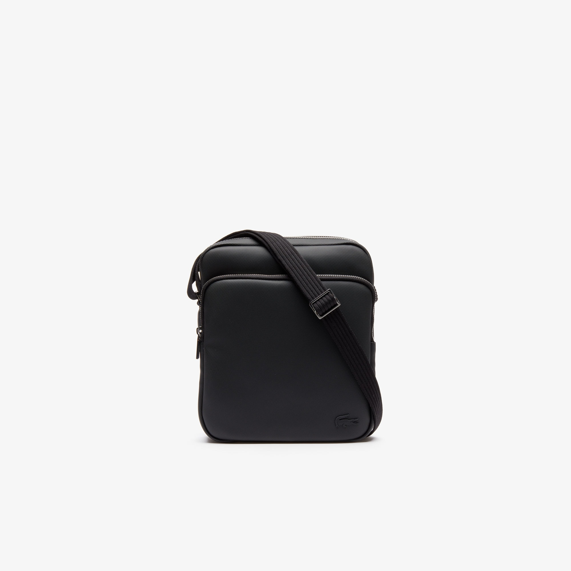 라코스테 메신저백 Lacoste Mens Classic Petit Pique Crossover Bag,black