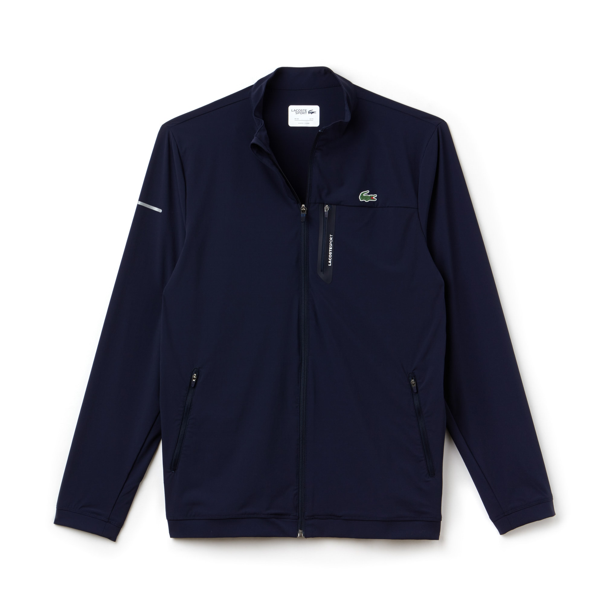Mens 라코스테 Lacoste SPORT Technical Taffeta Zip Golf Jacket,navy blue/navy blue