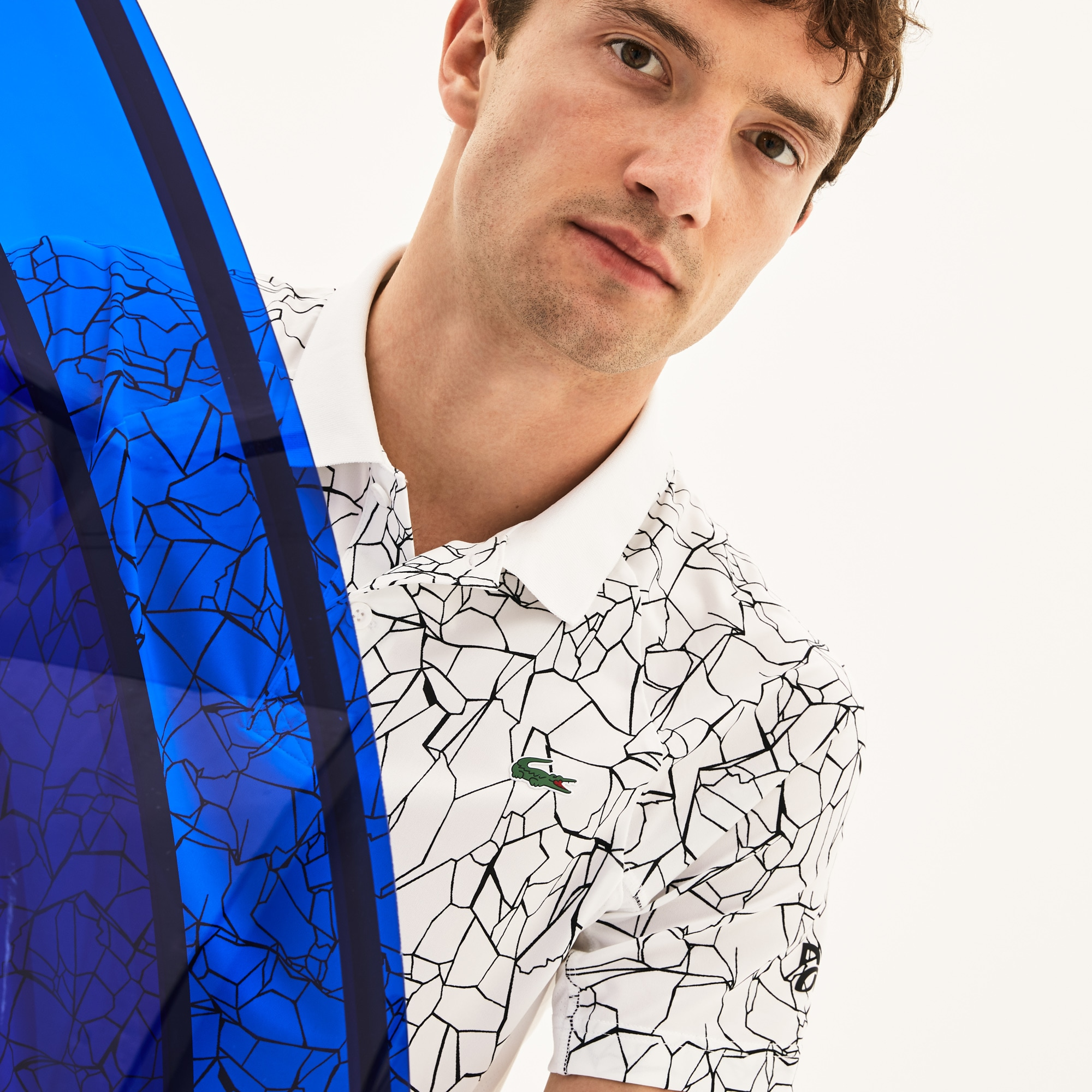 Men's SPORT Print Technical Polo - Novak Djokovic Collection
