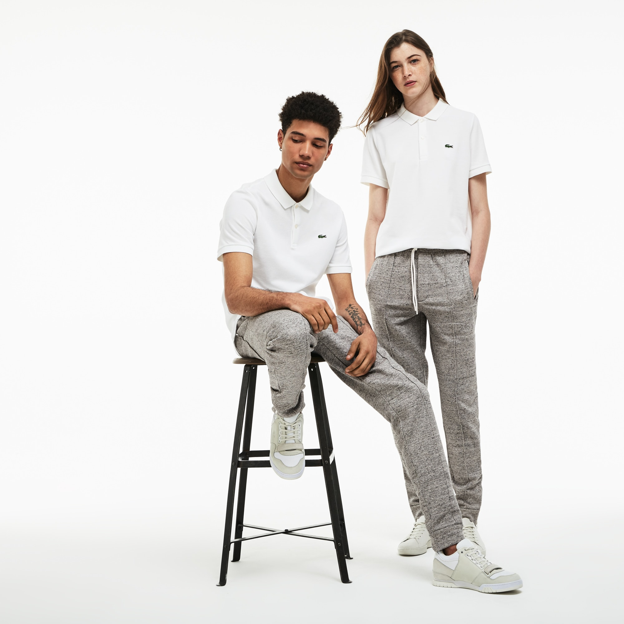 Unisex Lacoste LIVE Fleece Pleated Urban Jogging Pants