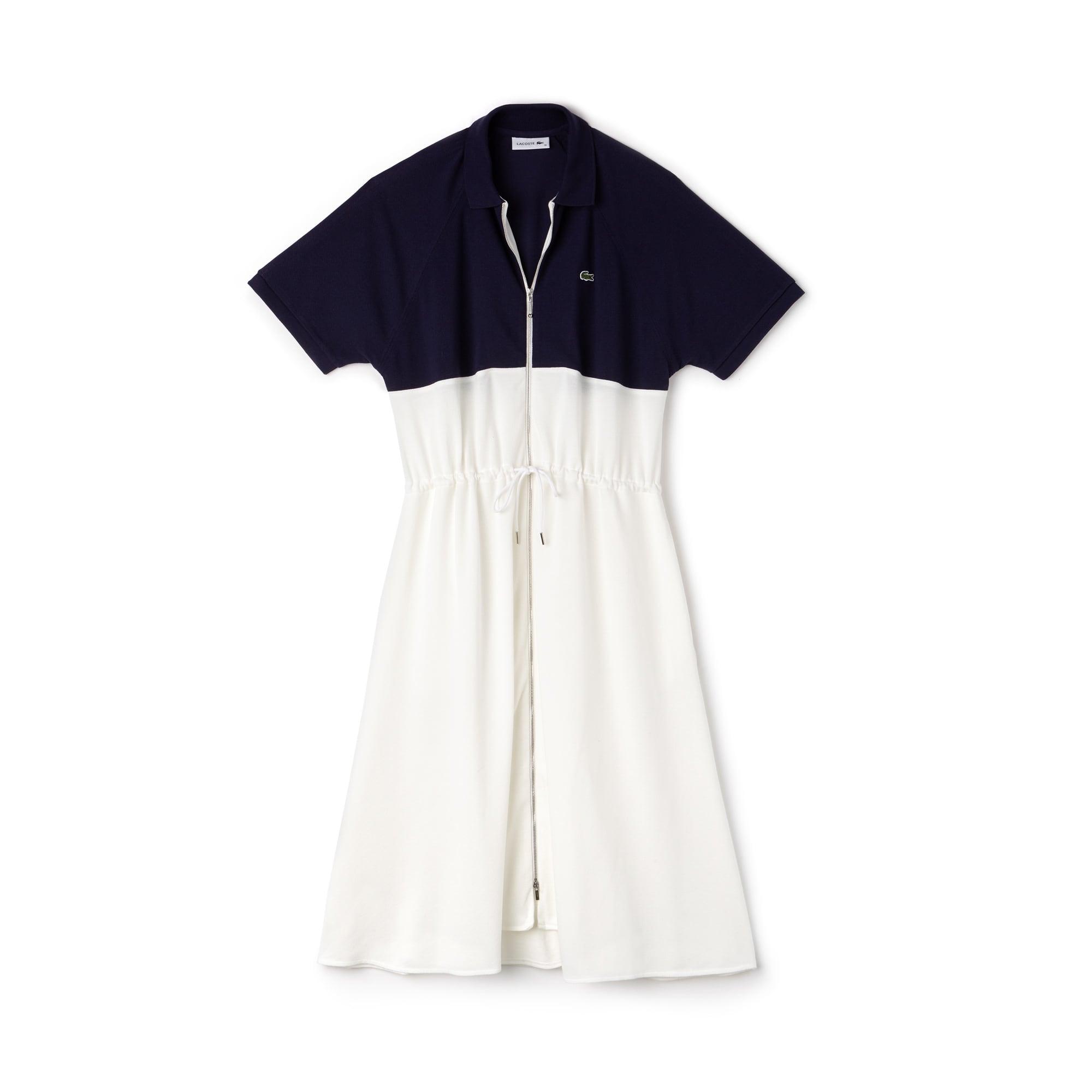Women's Zip Petit Piqué Polo Dress