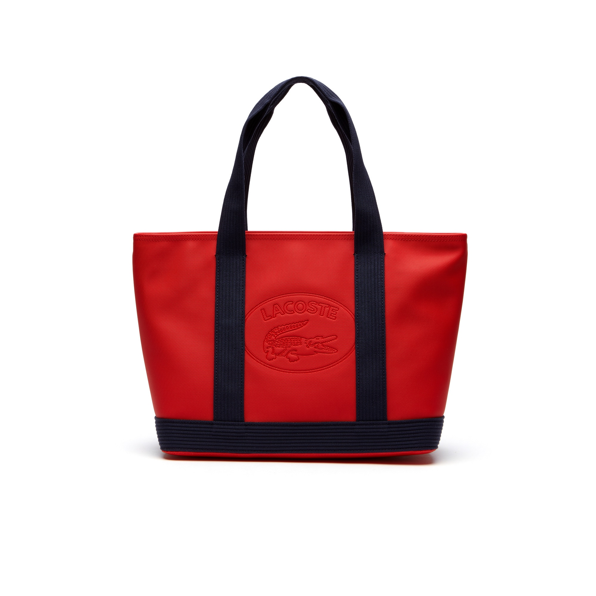 Women's Classic Coated Piqué Canvas Zip Tote Bag