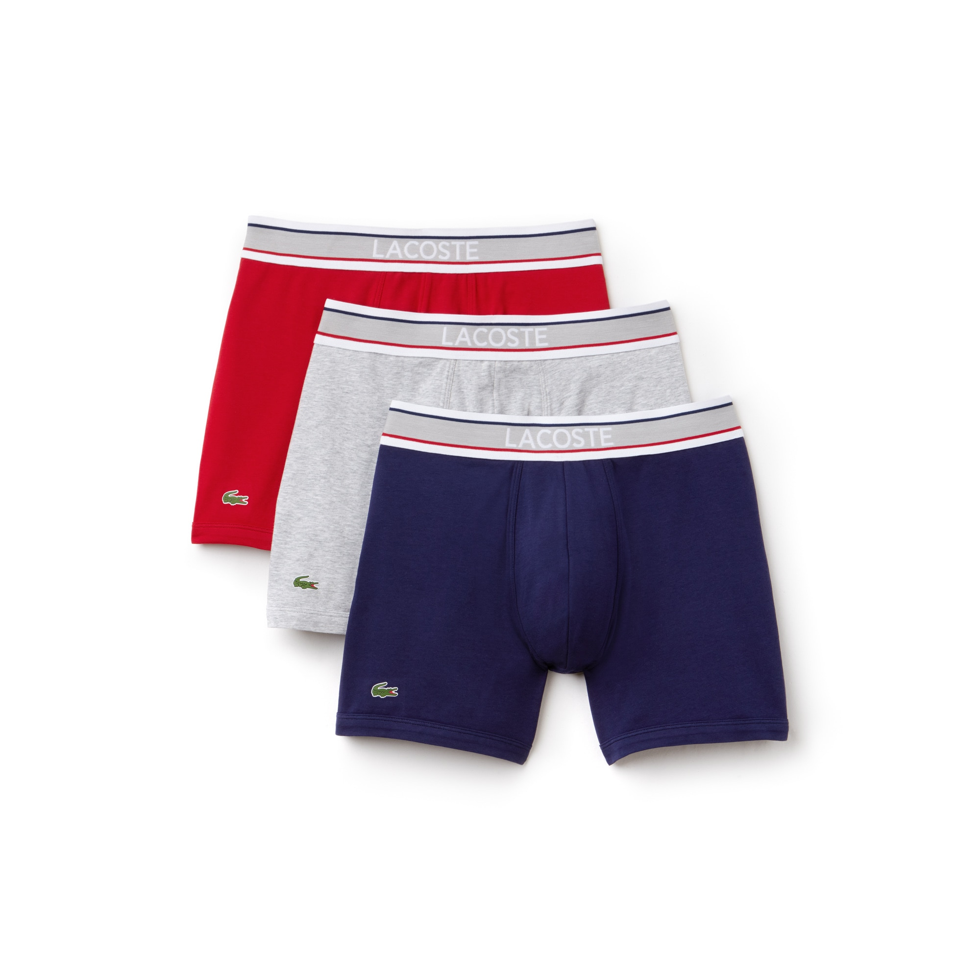 Men's 3 Pack Flag Waistband Cotton Stretch Boxer Brief