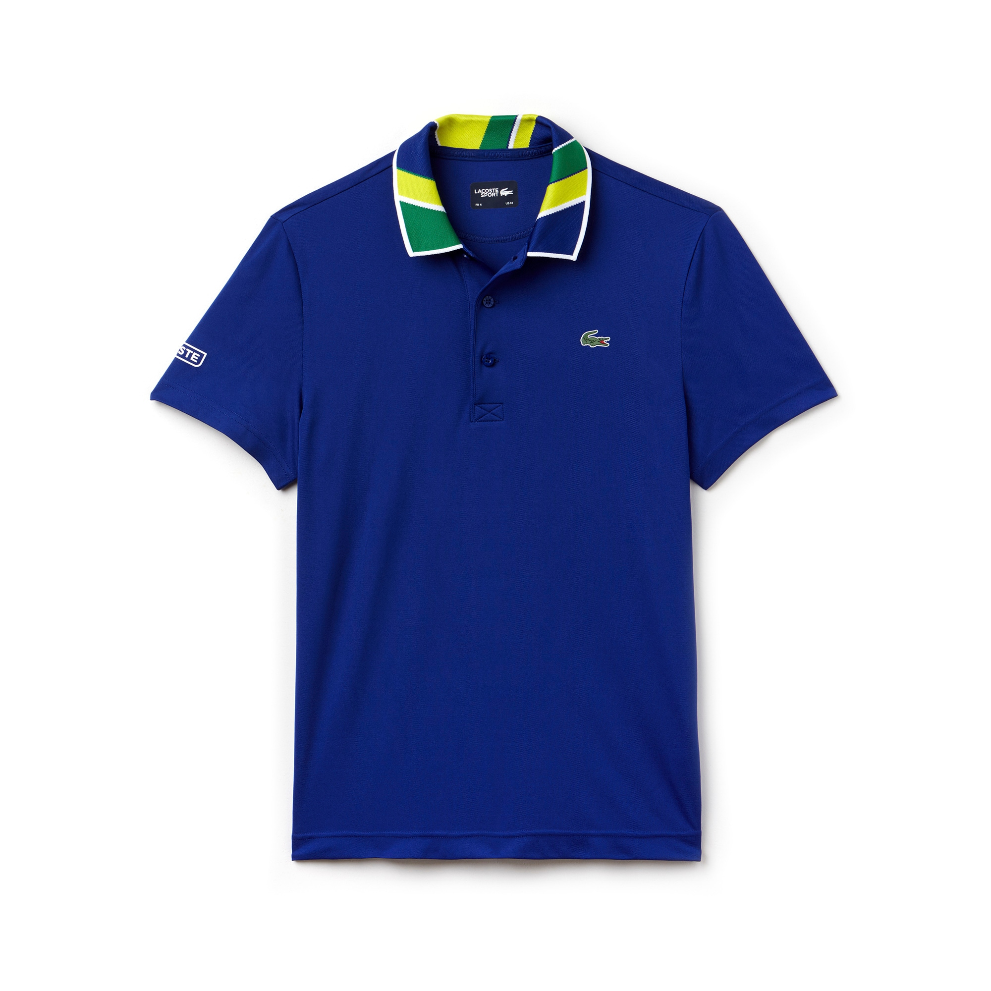 Men's SPORT Print Neck Technical Piqué Tennis Polo
