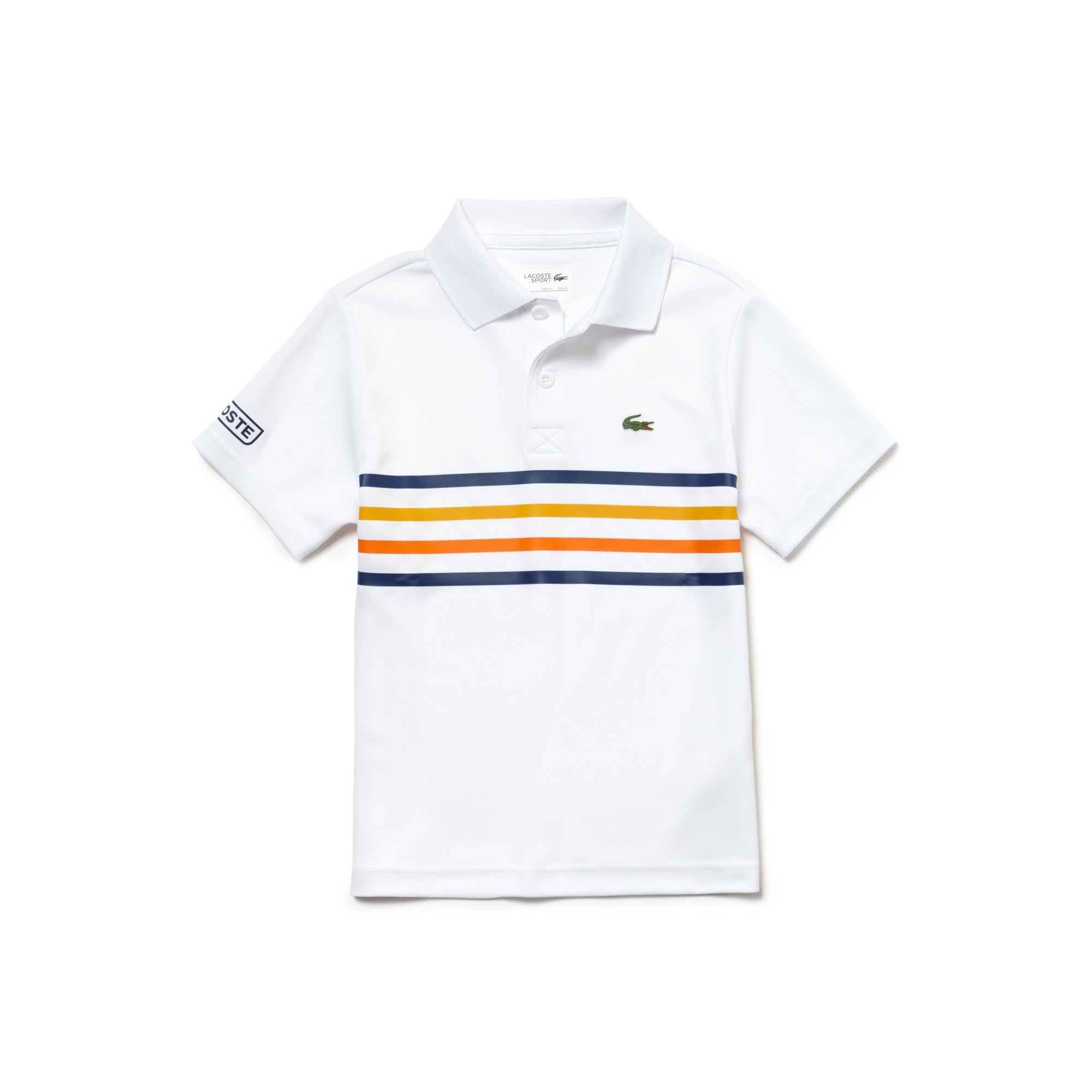 Boys' SPORT Colored Bands Tech Piqué Tennis Polo