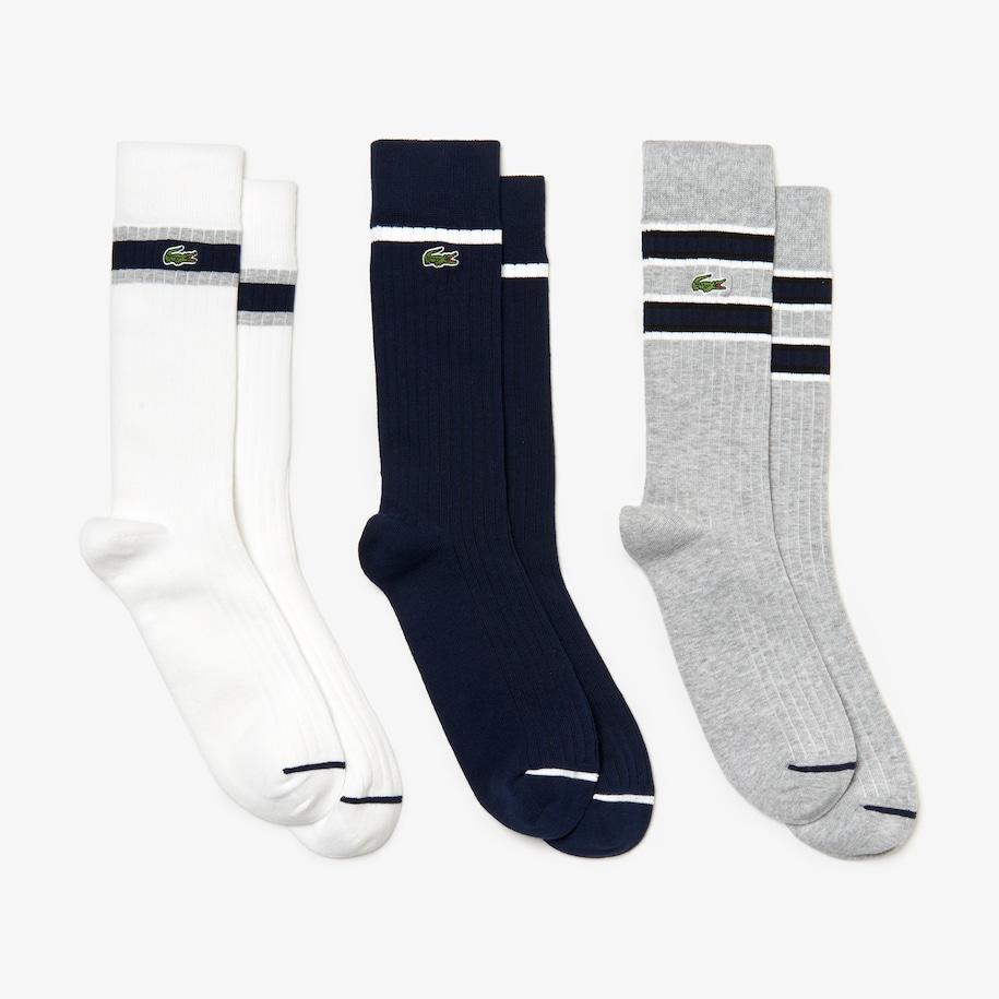 Men's Ribbed Cotton Blend Sock 3-Pack