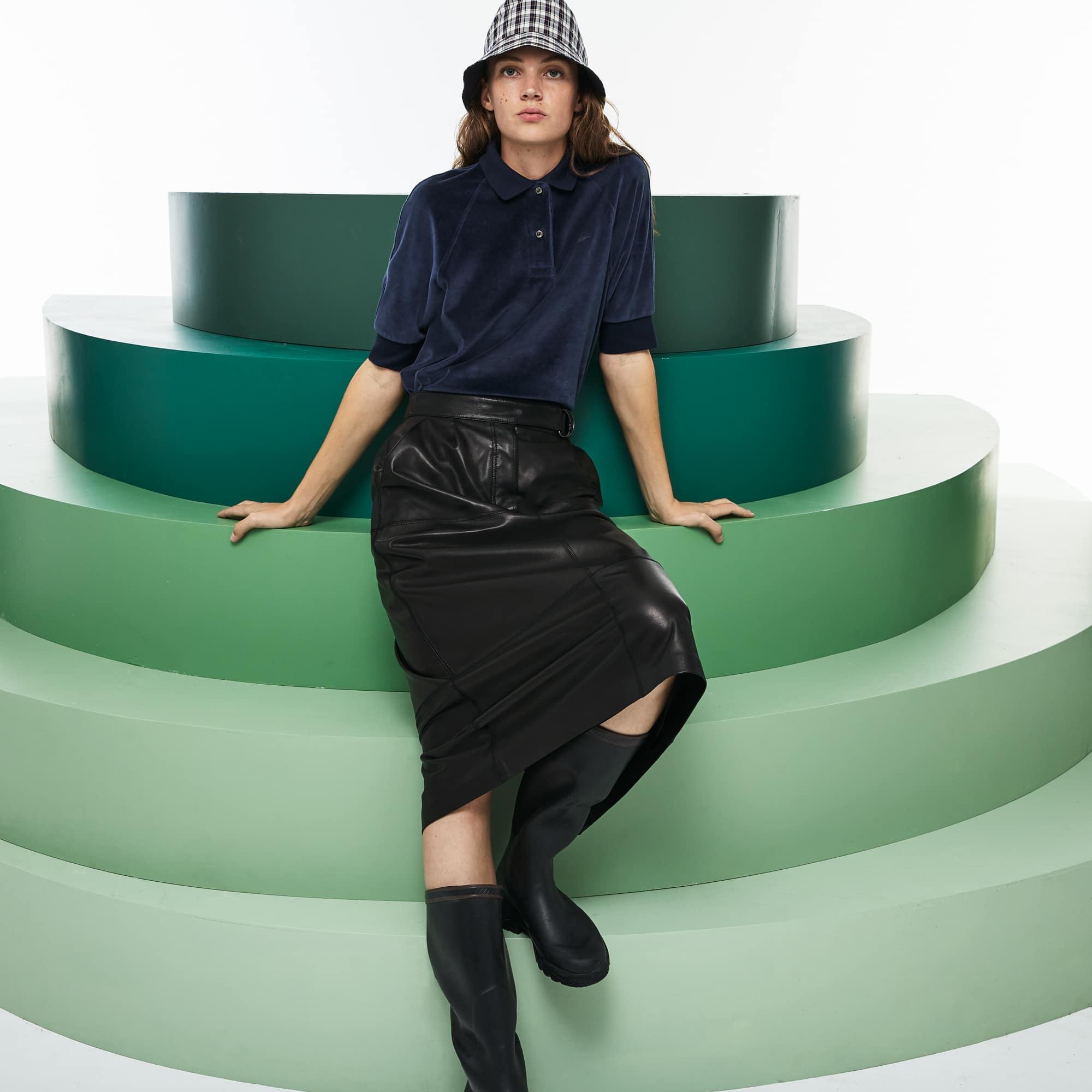 Women's Fashion Show Velour Polo