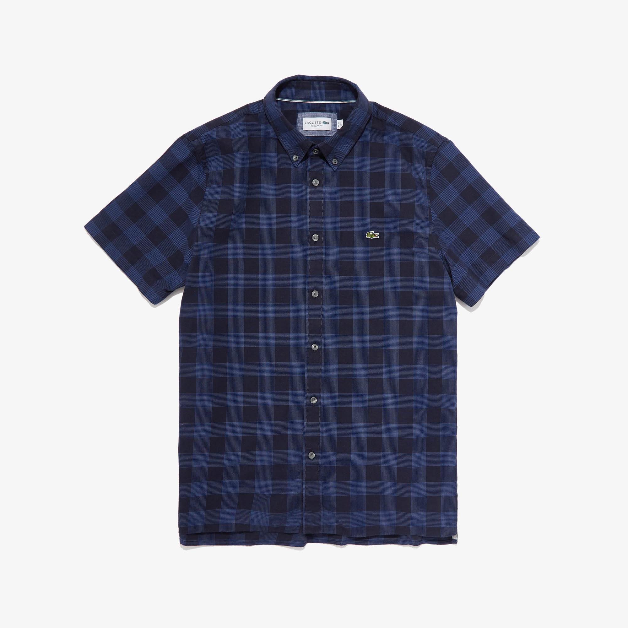 Men's Regular Fit Check Cotton And Linen Shirt