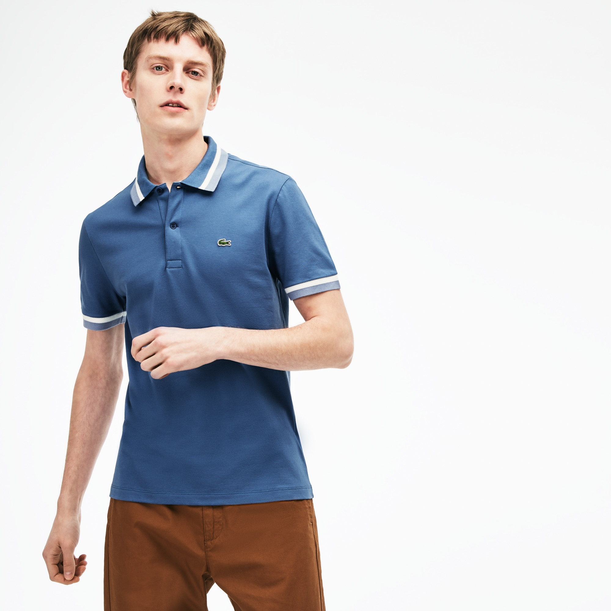 Men's Slim Fit Contrast Pima Piqué Polo