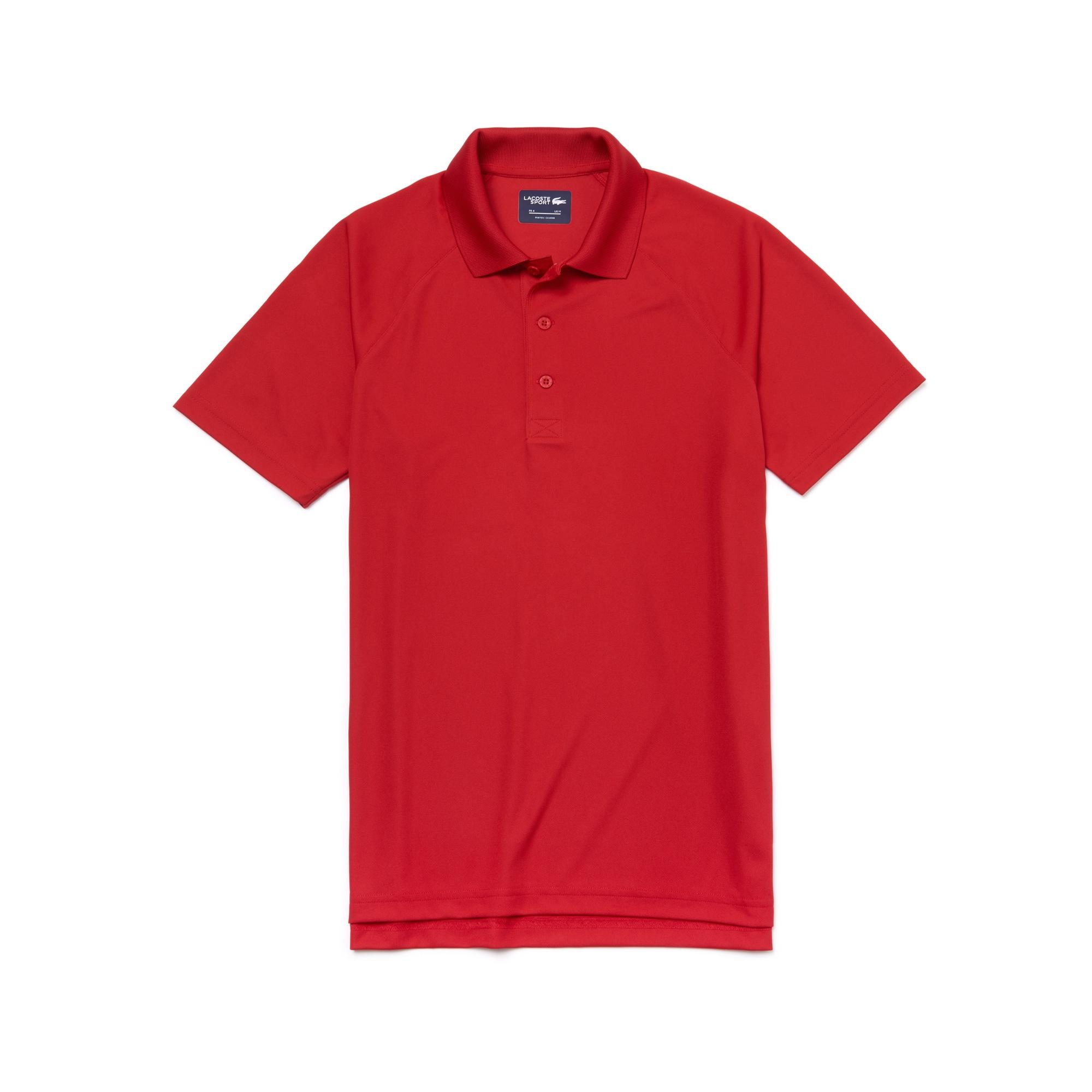 라코스테 Lacoste Mens SPORT Technical Pique Tennis Polo,red