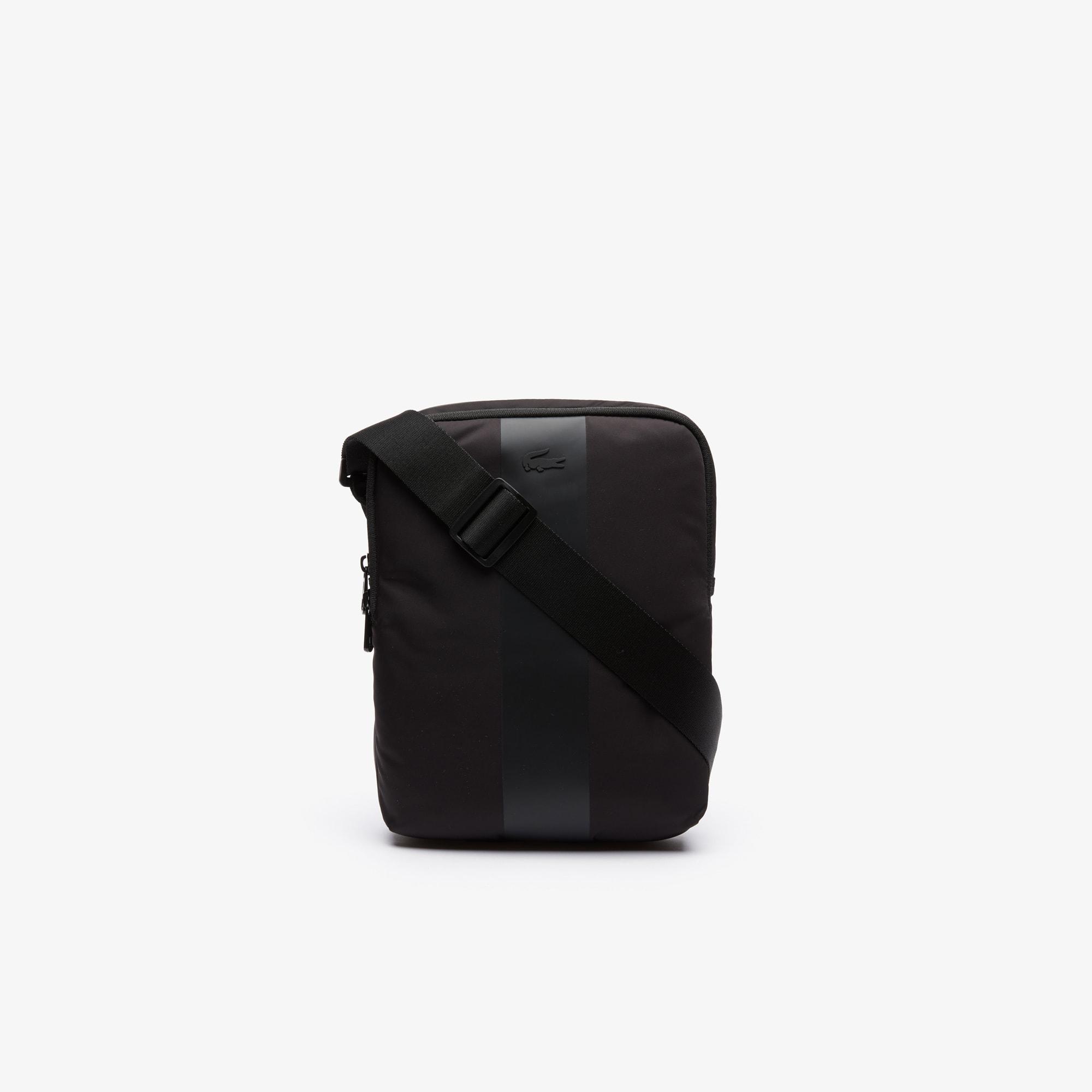 라코스테 어반트렉 지퍼 백 Lacoste Mens Urban Trek Light Nylon Zip Bag,BLACK