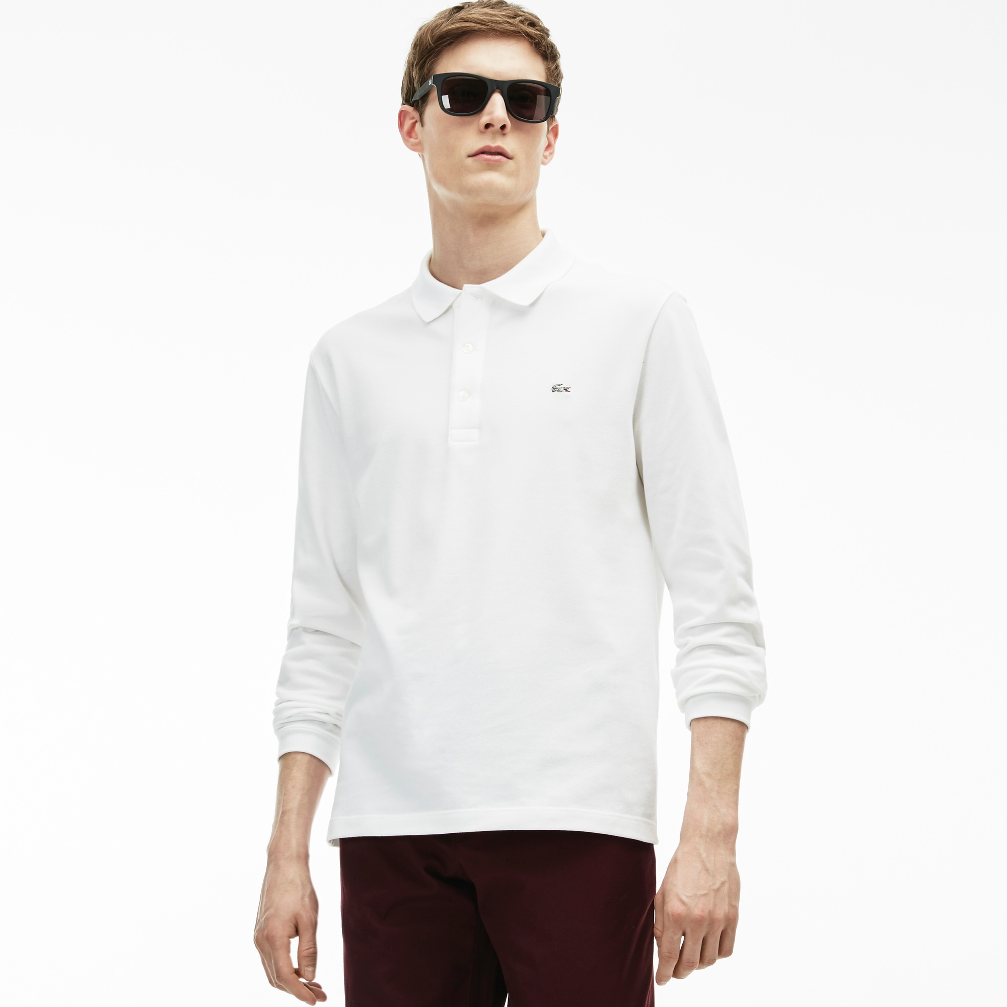 Men's  Slim Fit Stretch Mini Piqué Polo Shirt