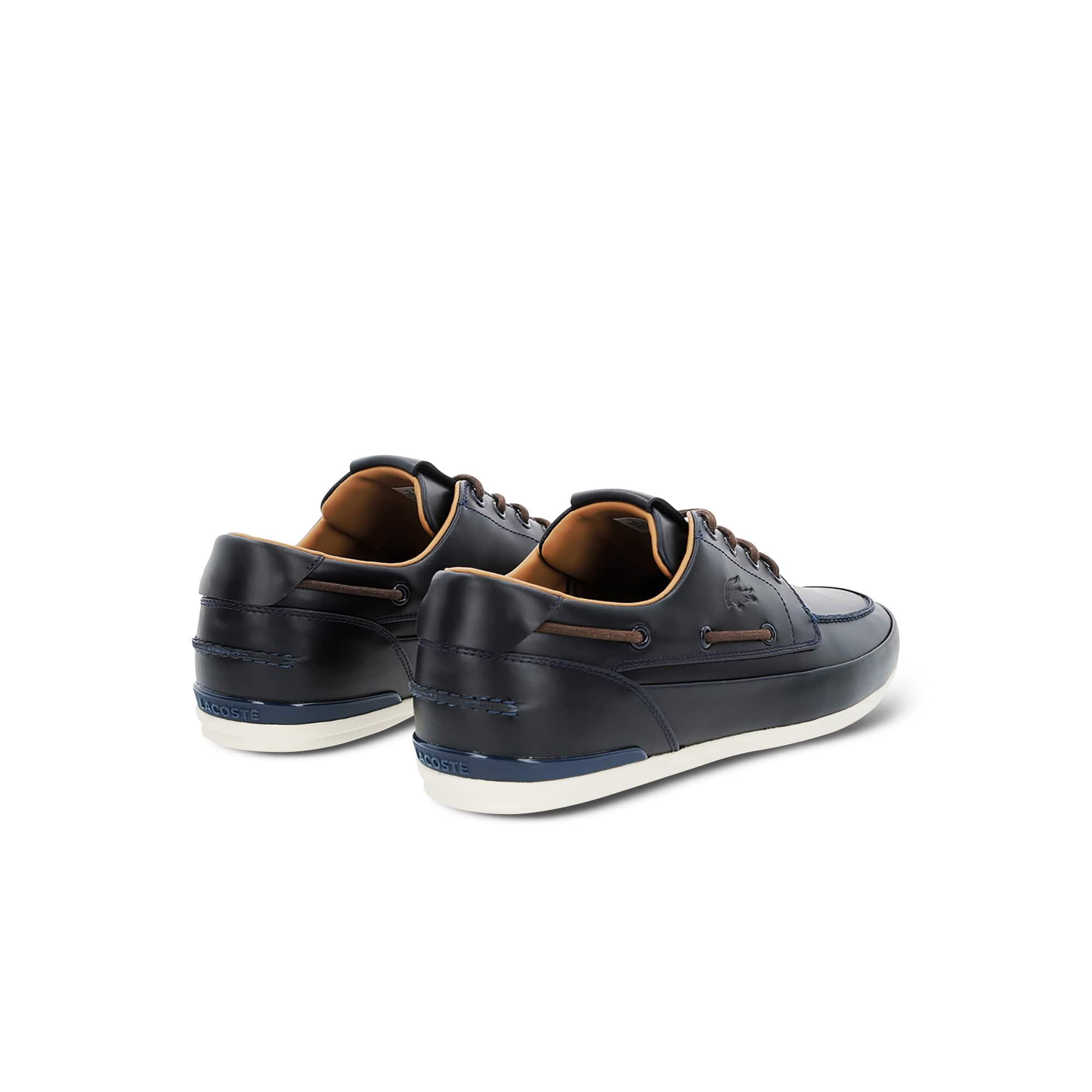 Marina Premium Leather Deck Shoes | LACOSTE