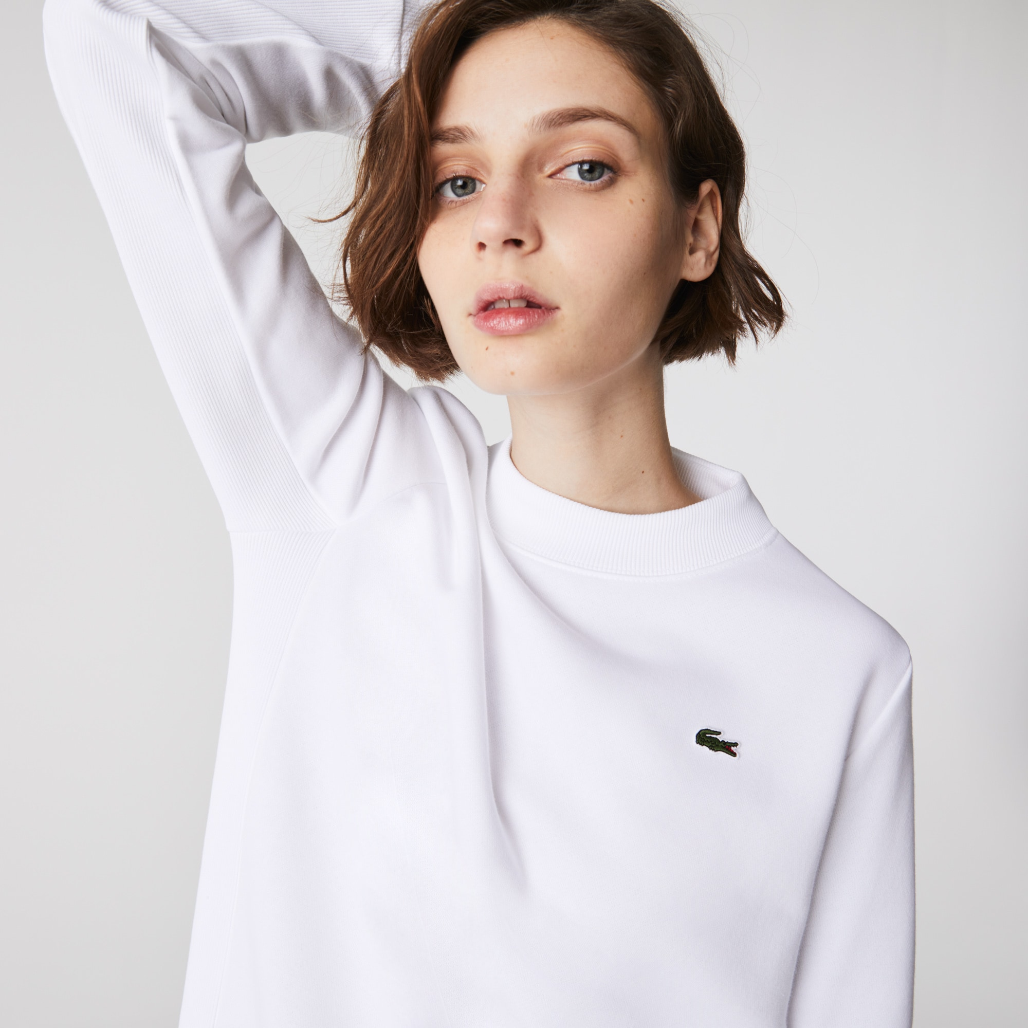 Lacoste Womens SPORT Fleece Tennis Sweatshirt