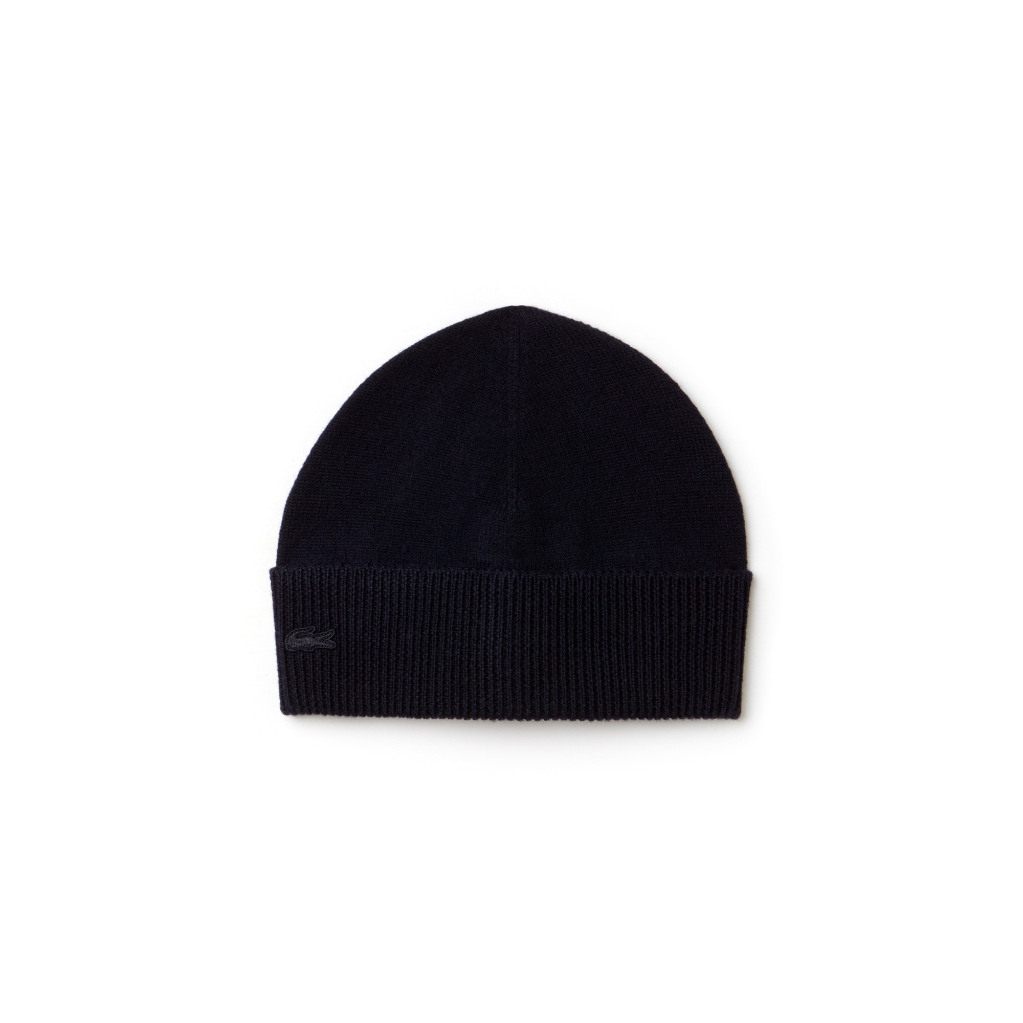 Men's Ribbed Turned Edge Wool Jersey Beanie