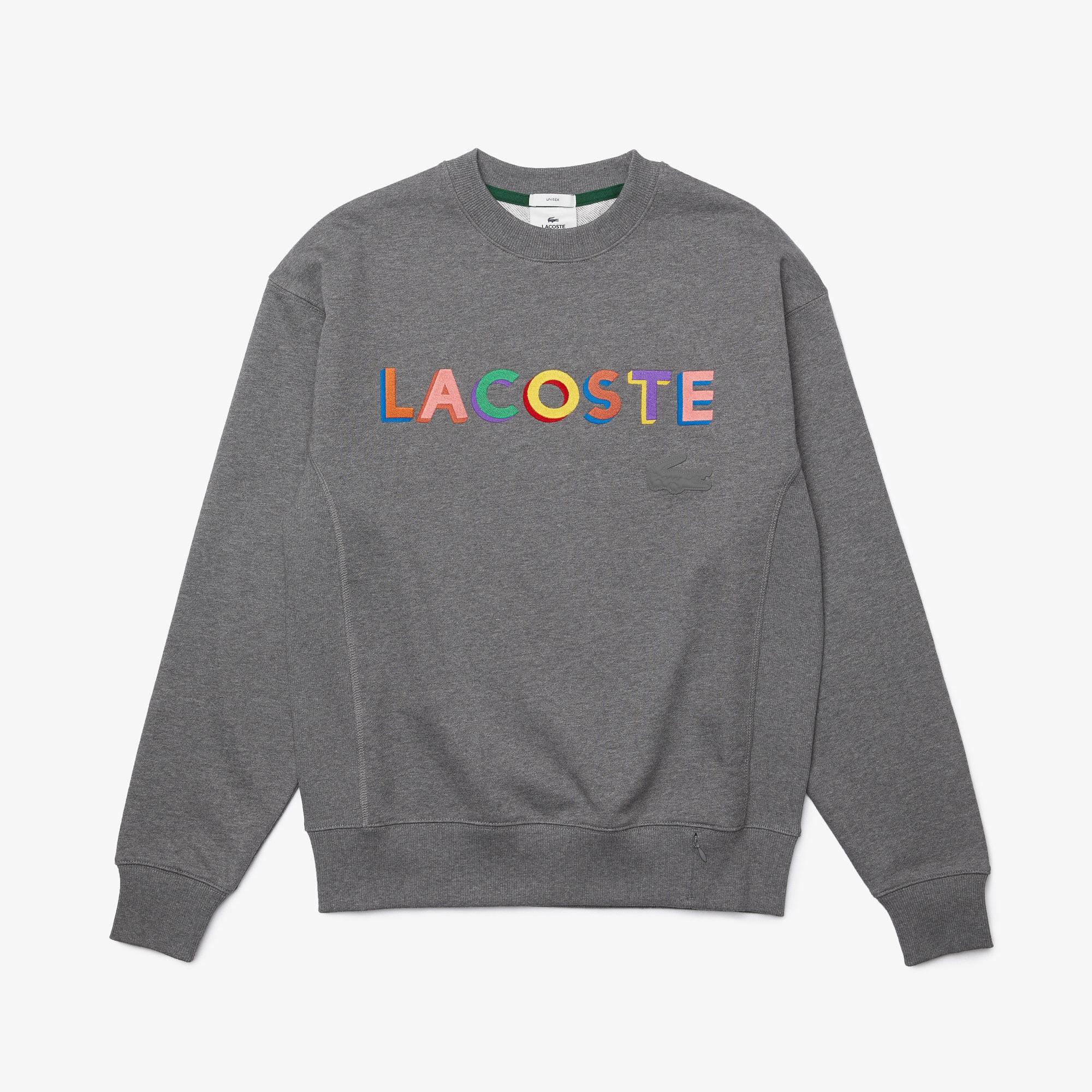 라코스테 라이브 남녀공용 맨투맨 Lacoste Unisex LIVE Loose Fit Embroidered Fleece Sweatshirt