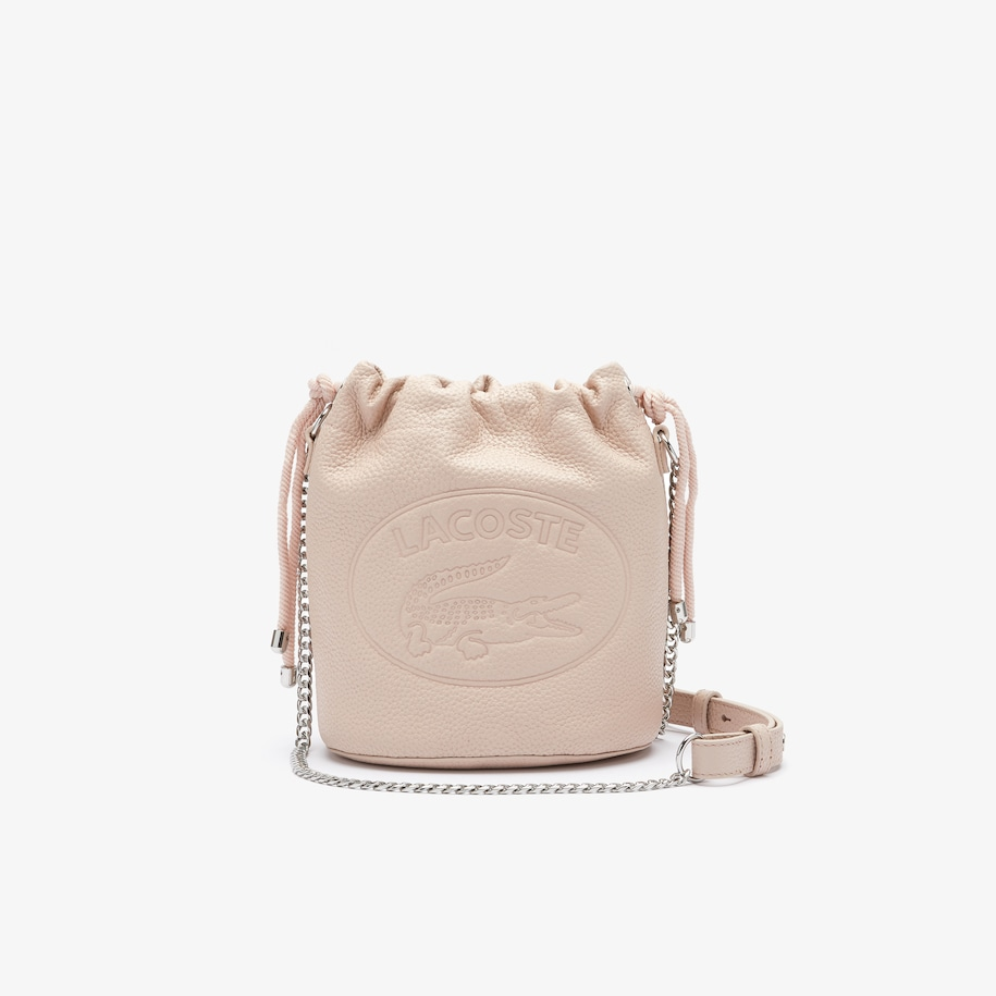 Women's Croco Crew Leather Bucket Bag