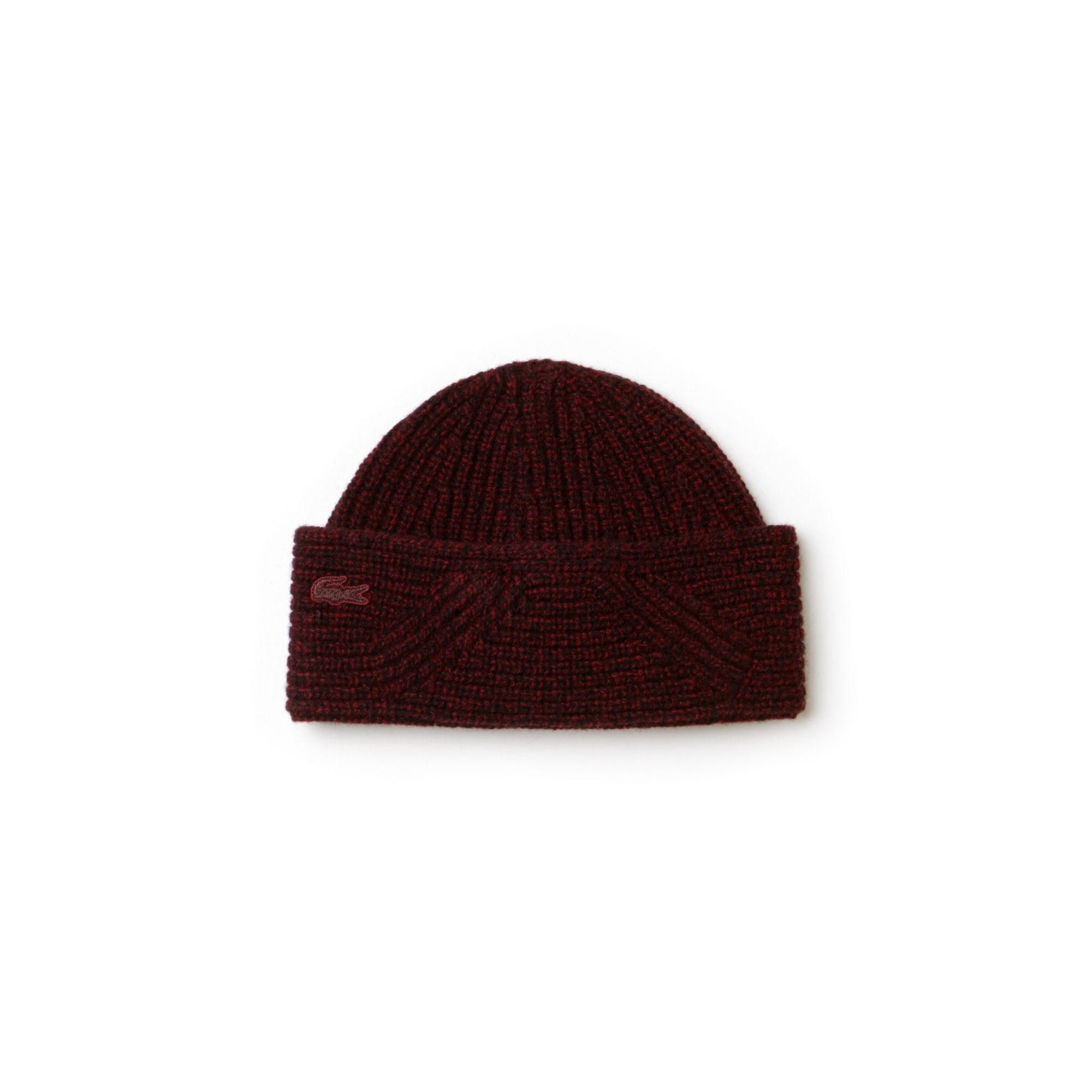 83db2a2b656 Lacoste Women S Ribbed Wool Beanie In Turkey Red 2 Mouline