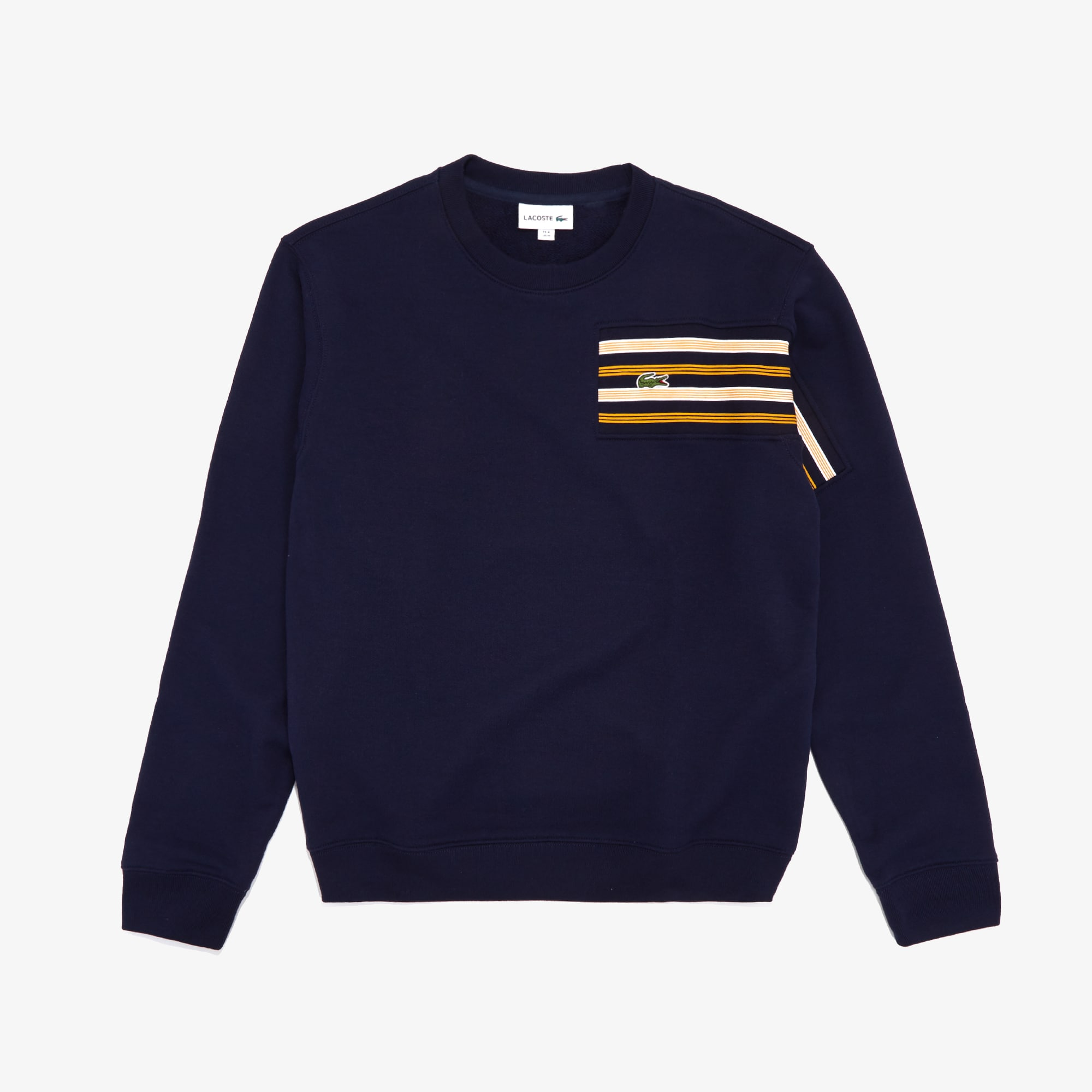 Men's Striped Panel Cotton Fleece Sweatshirt
