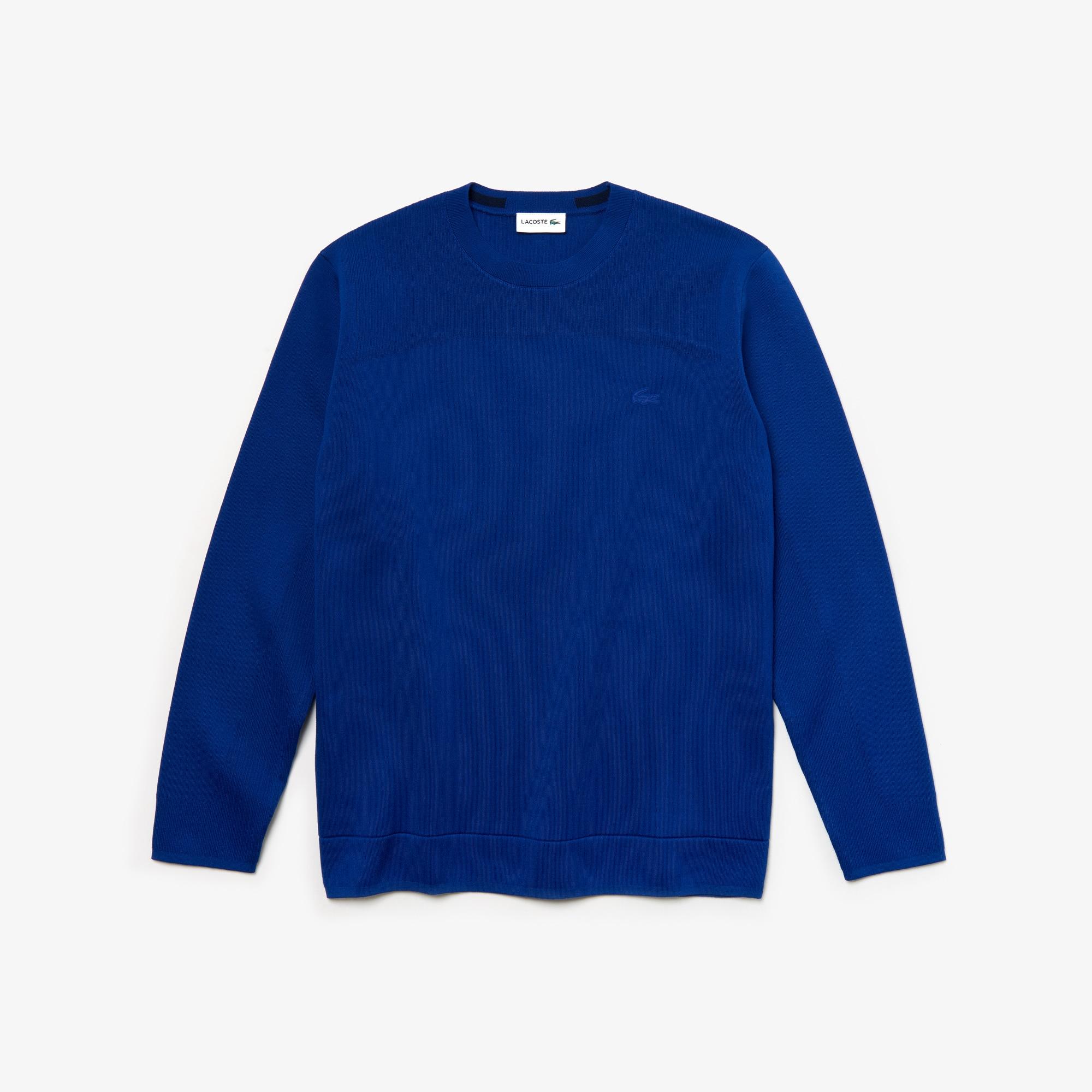 Men's Lacoste Motion Crew Neck Cotton Sweater