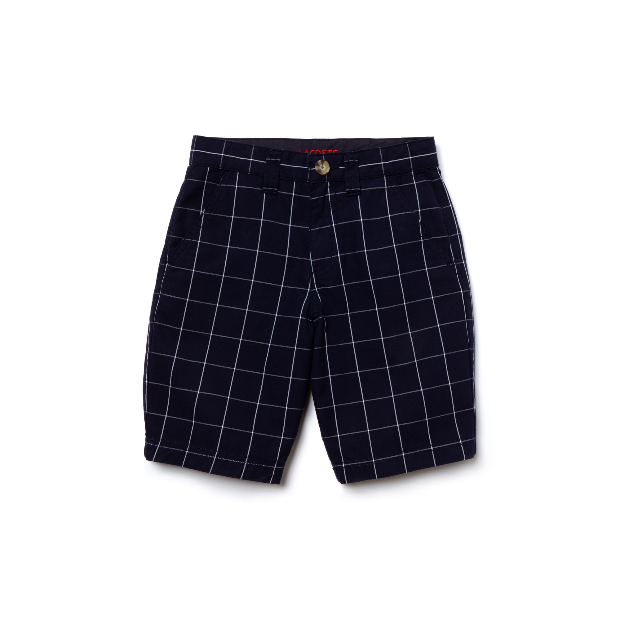 Kid's Two-Tone Gingham Poplin Bermuda Shorts