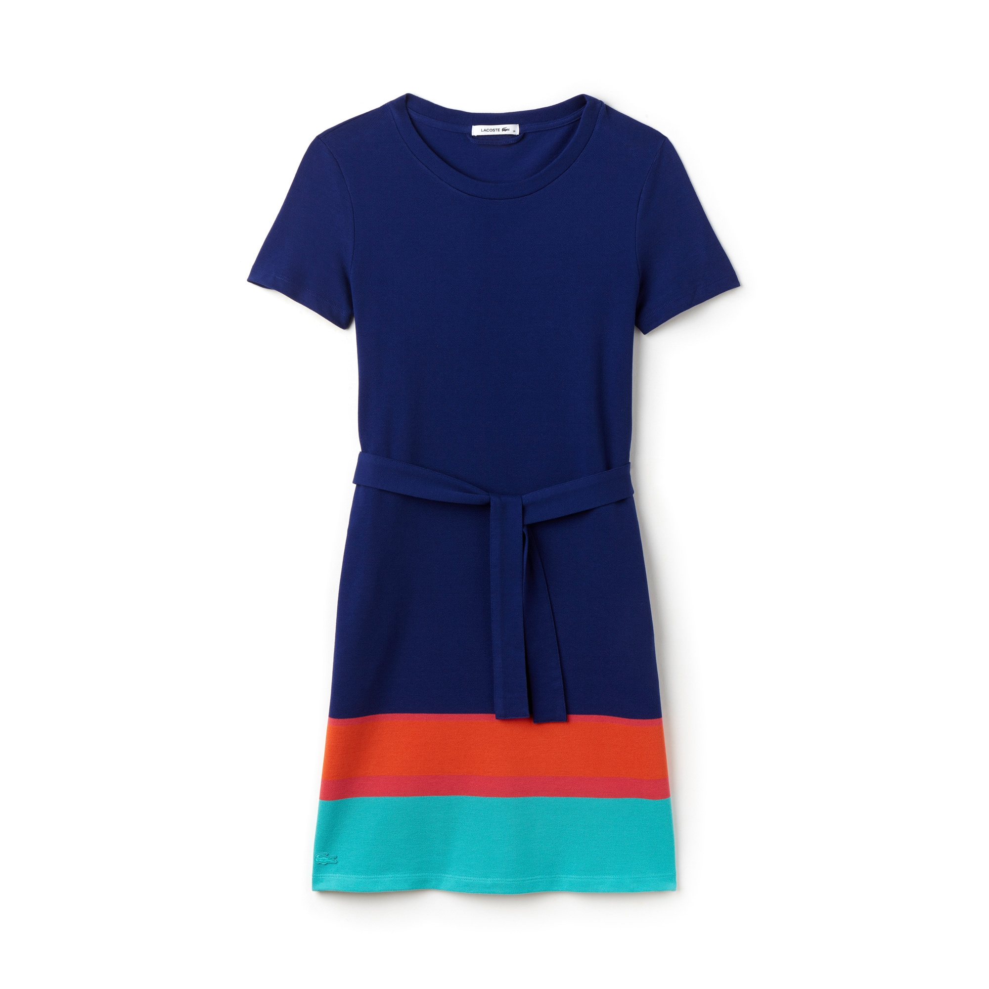 Women's Colorblock Band Piqué T-Shirt Dress