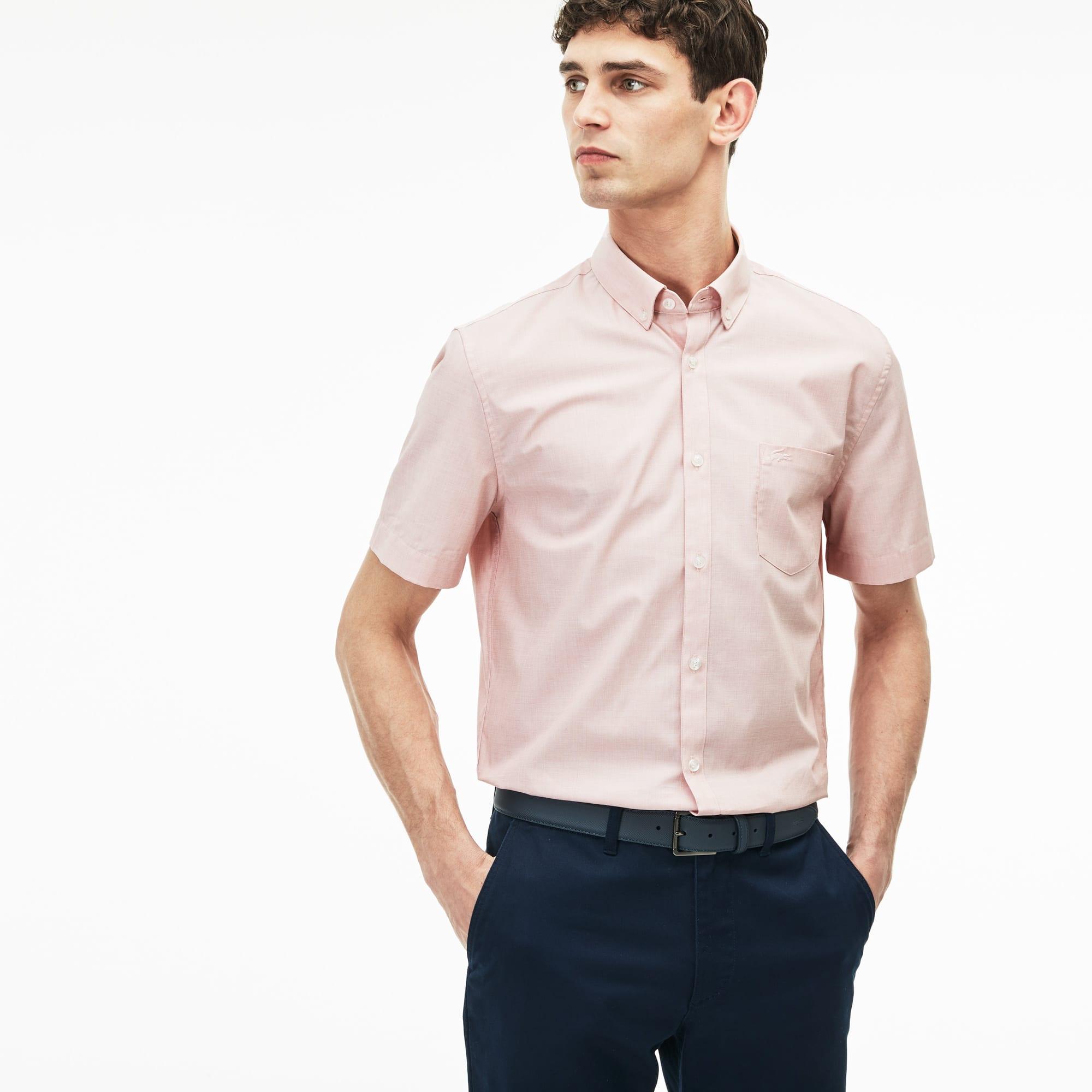 Men's Regular Fit Salt And Pepper Shirt