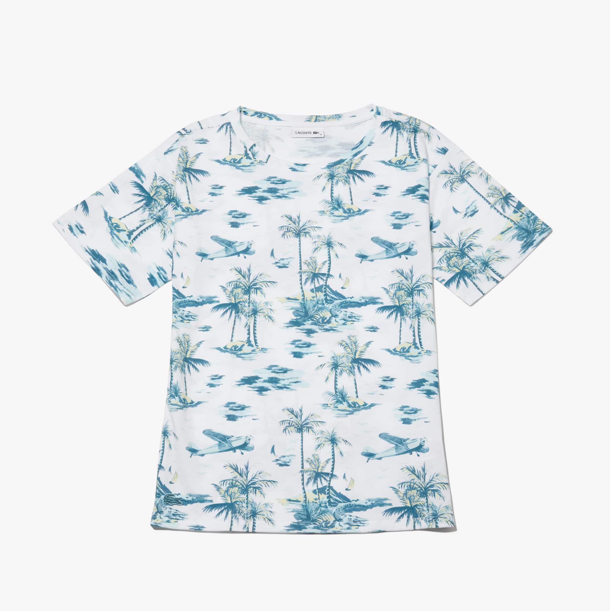 라코스테 Lacoste Womens Crew Neck Jersey T-shirt,White - 001 (Selected color)