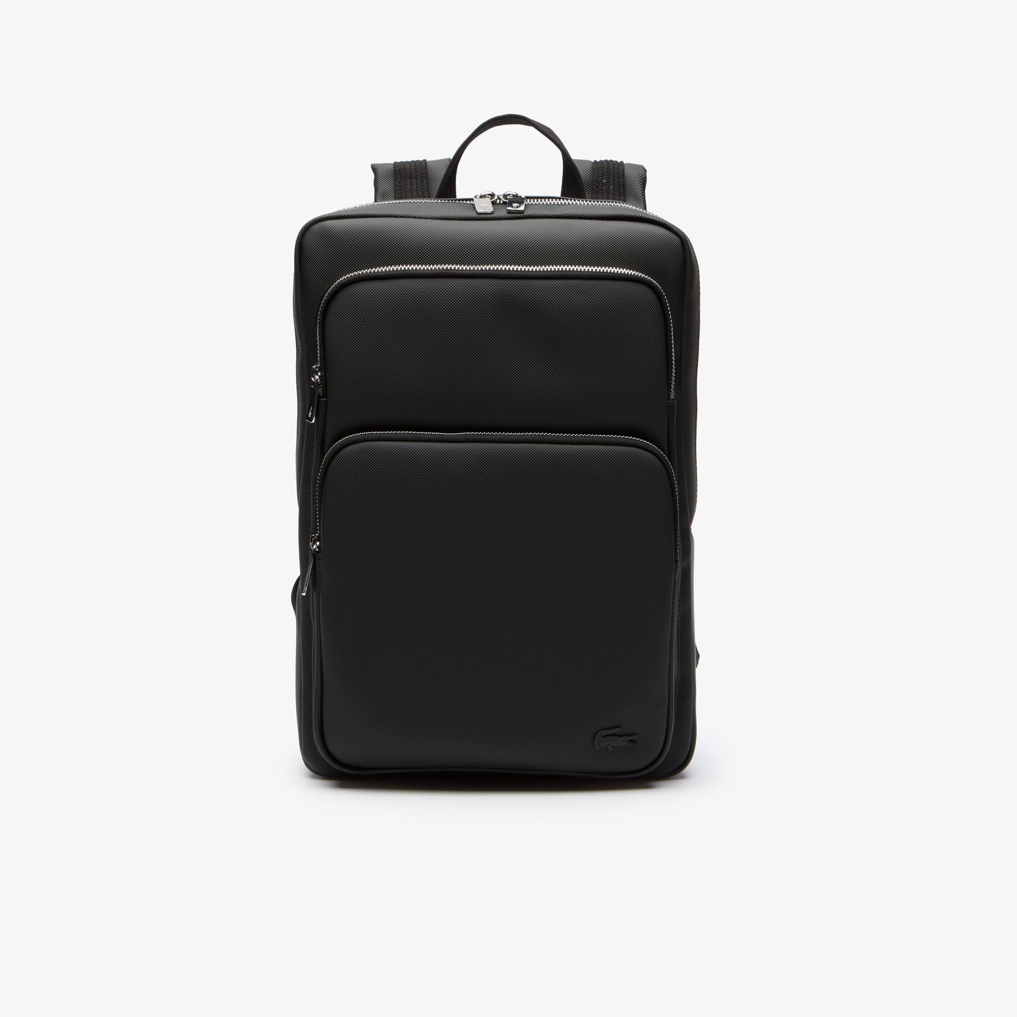 라코스테 Lacoste Mens Classic Petit Pique Backpack,BLACK