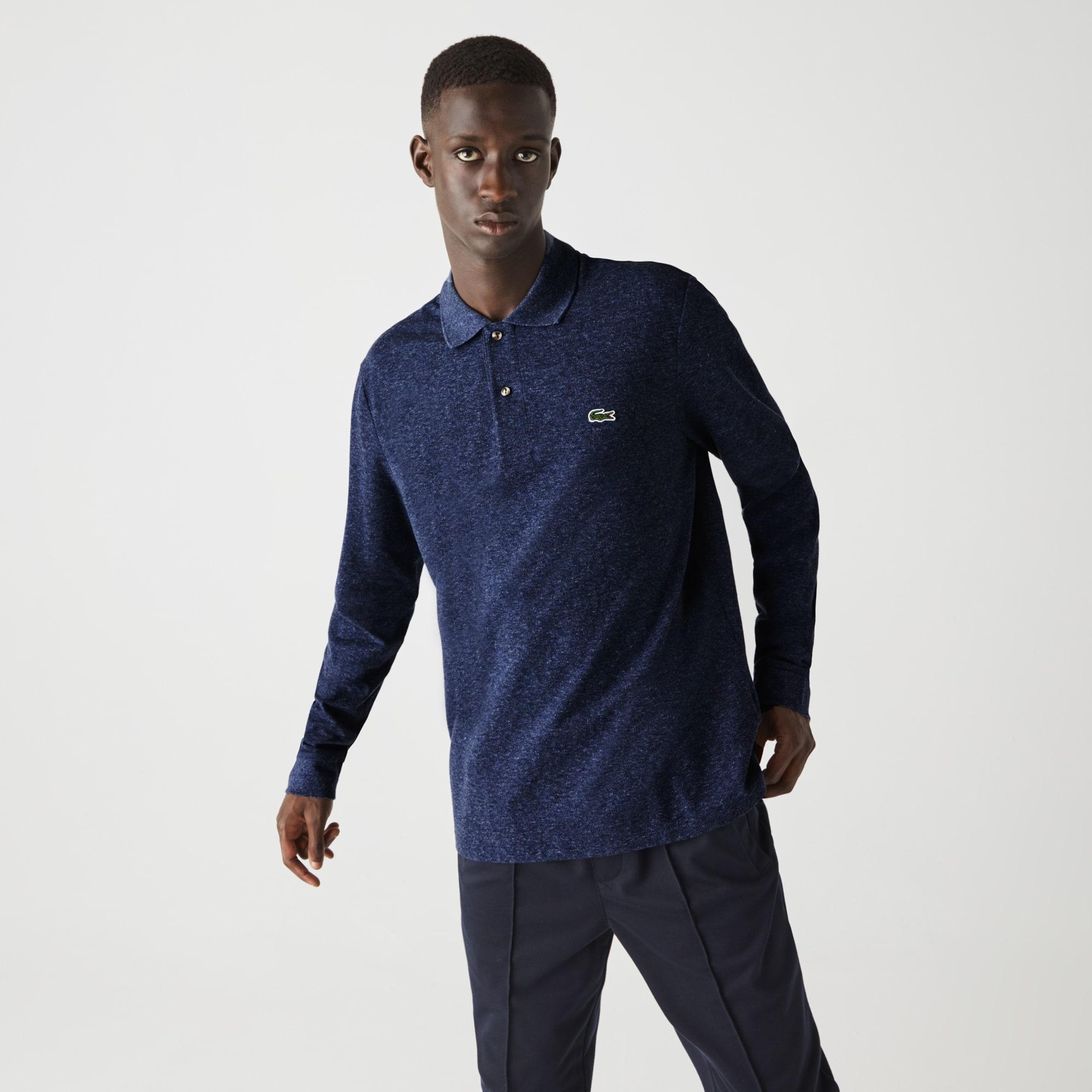 라코스테 맨 긴팔 폴로 셔츠 Lacoste Mens Marl Petit Pique Classic Fit Long-Sleeve Polo