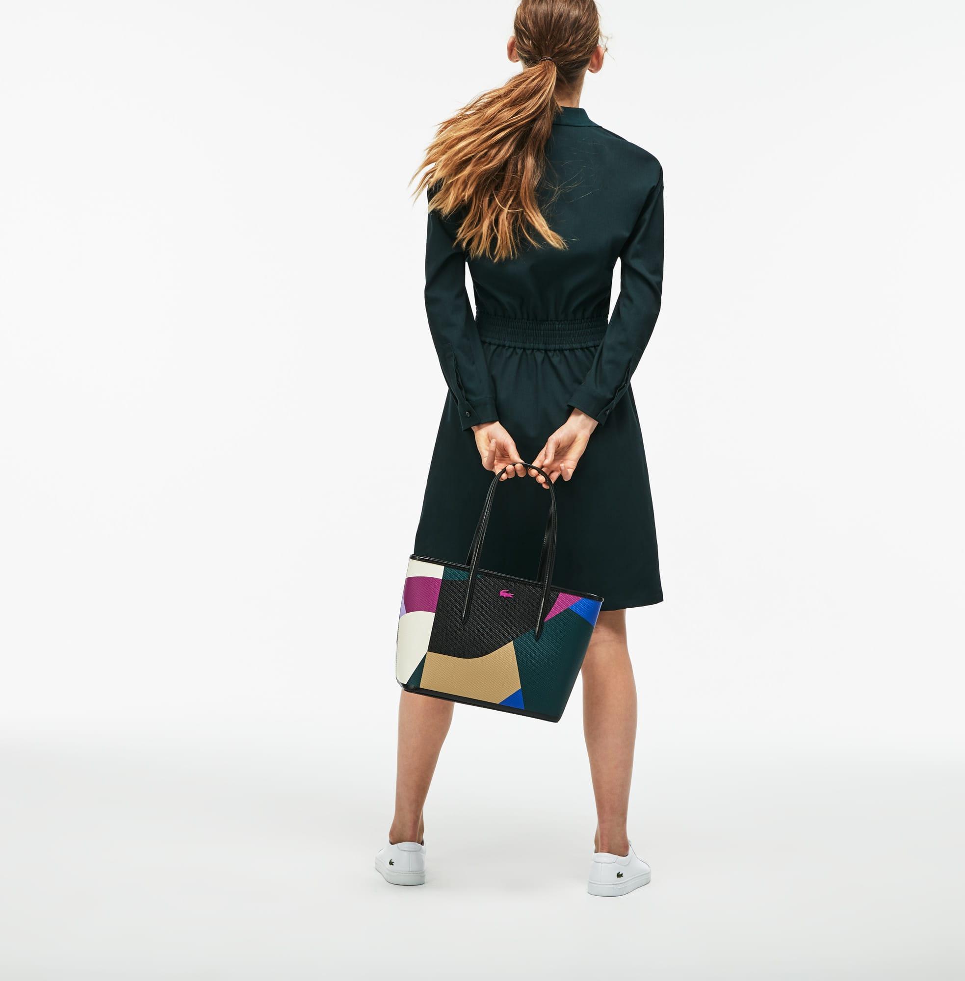 Women's Chantaco Colorblock Print Leather Zip Tote