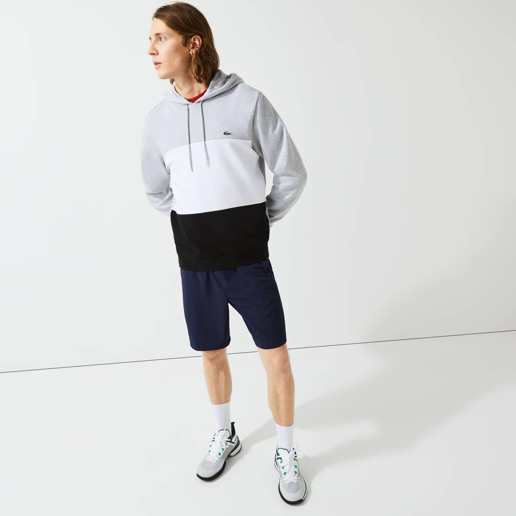 라코스테 맨 컬러블록 후드티 Lacoste Men's Hooded Colorblock Fleece Sweatshirt