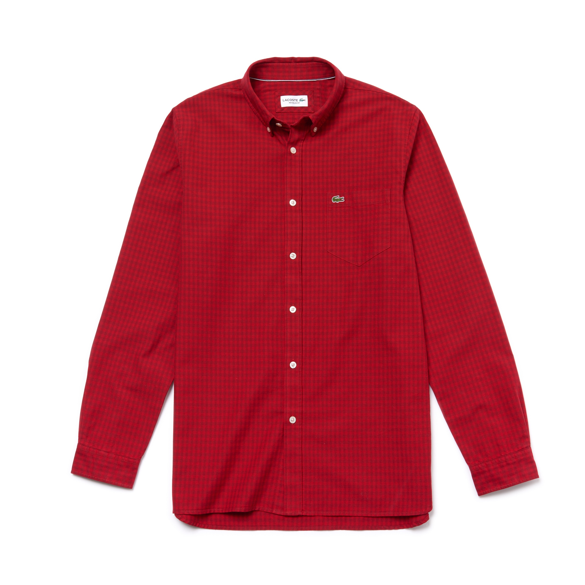 Men's Regular Fit Gingham Oxford Cotton Shirt
